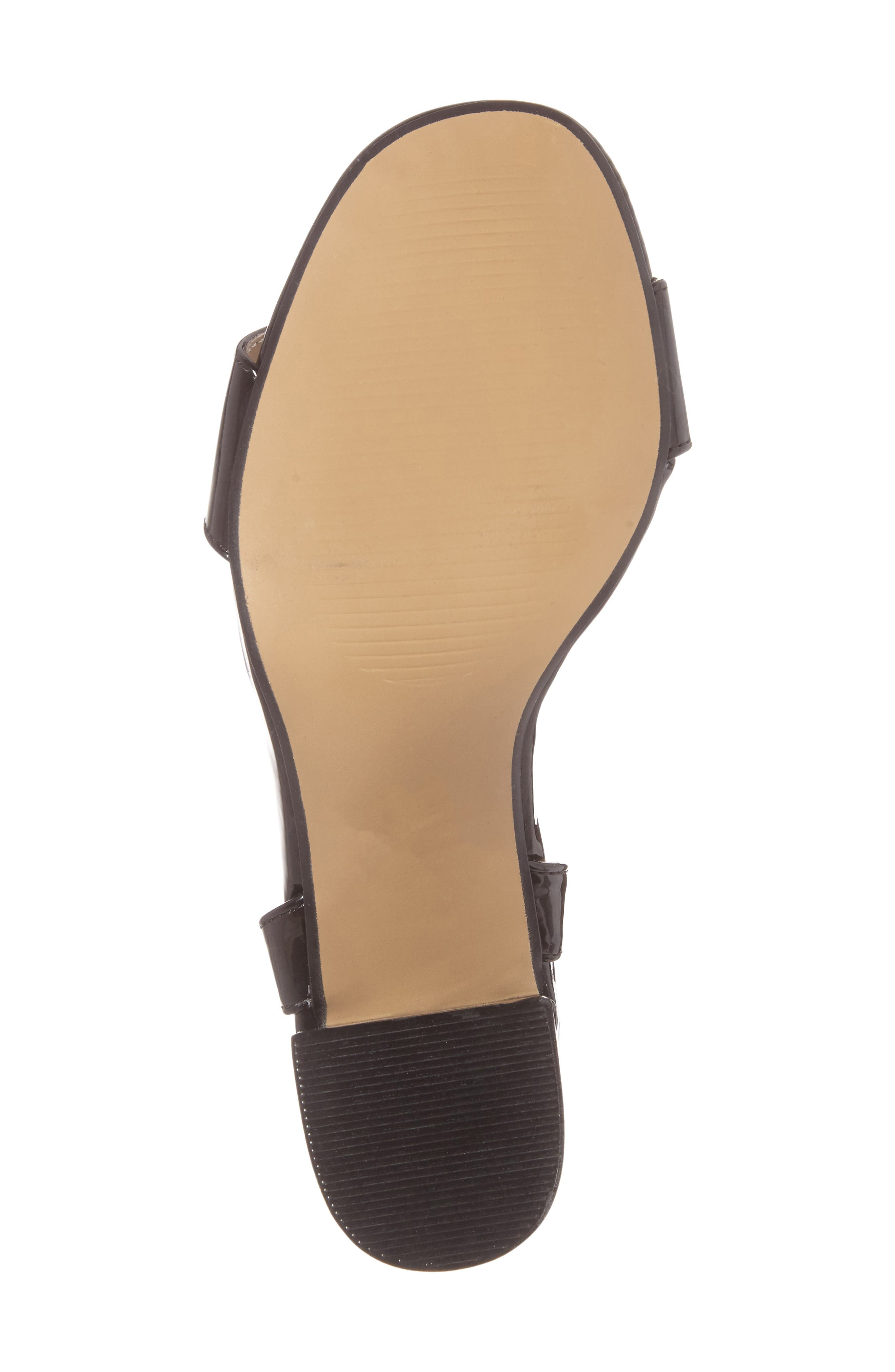 Ditaa T-Strap Sandal,                             Alternate thumbnail 6, color,                             Black Faux Patent