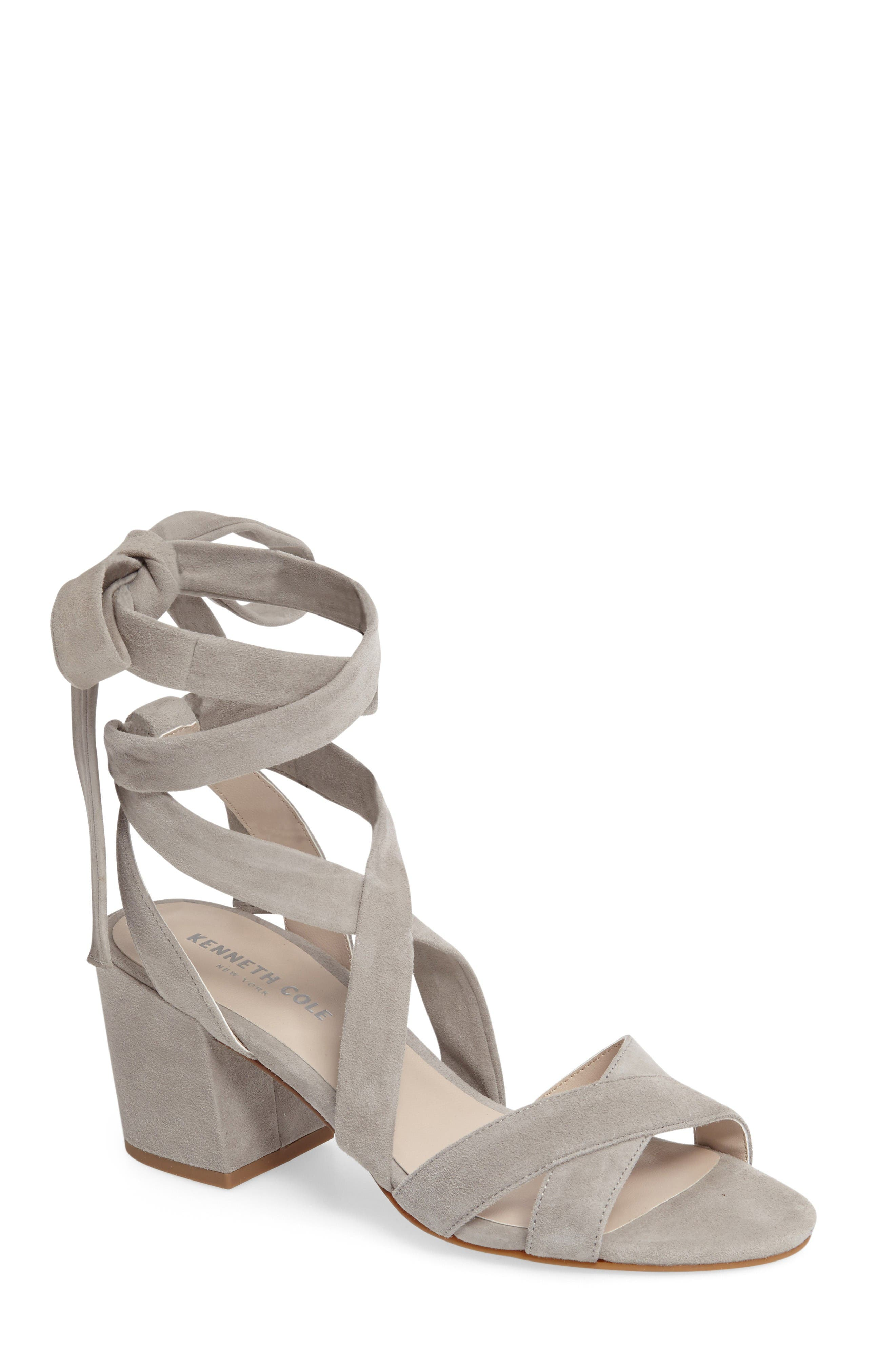 Main Image - Kenneth Cole New York 'Victoria' Leather Ankle Strap Sandal (Women)