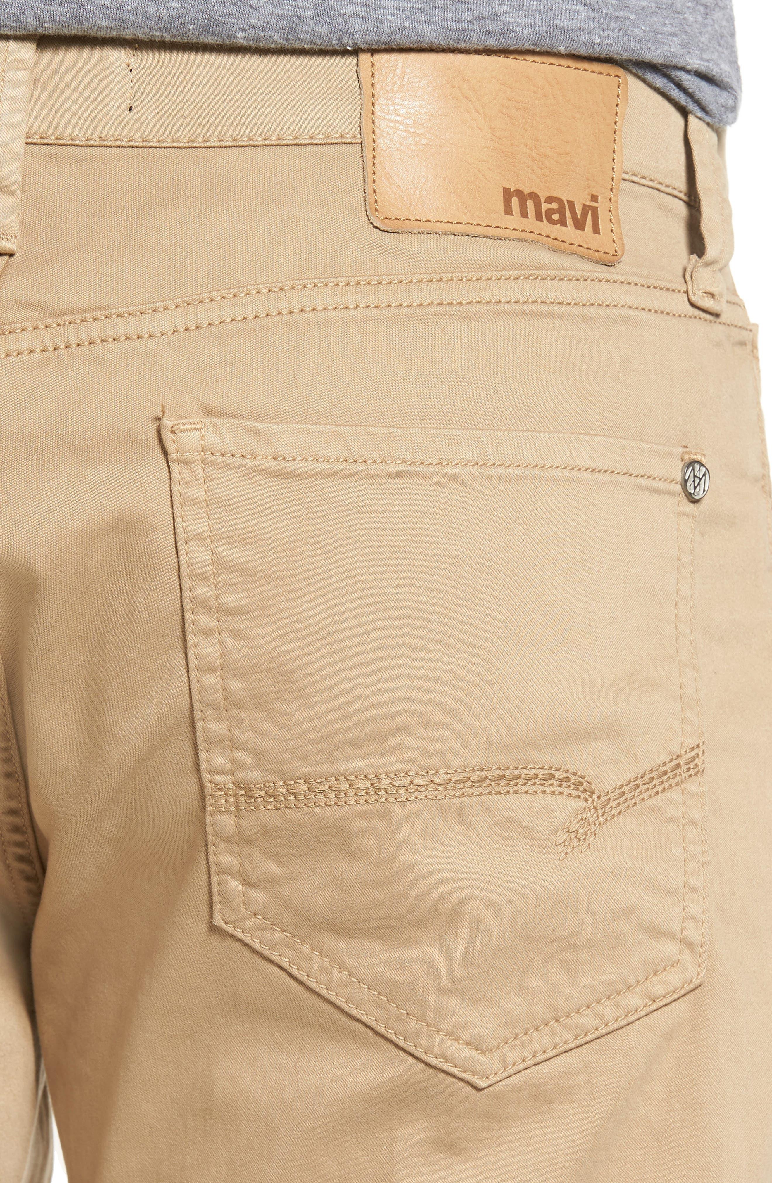 Matt Relaxed Fit Jeans,                             Alternate thumbnail 4, color,                             British Khaki Twill
