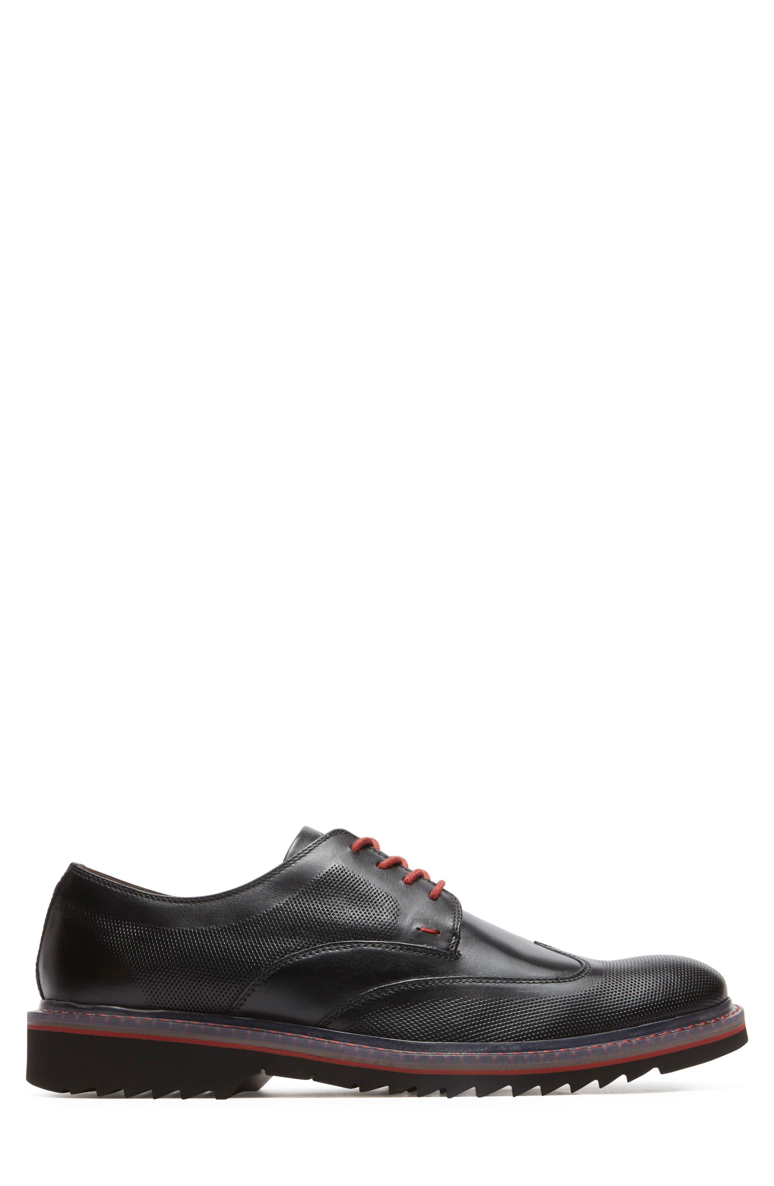 Jaxson Wingtip,                             Alternate thumbnail 3, color,                             Black Leather