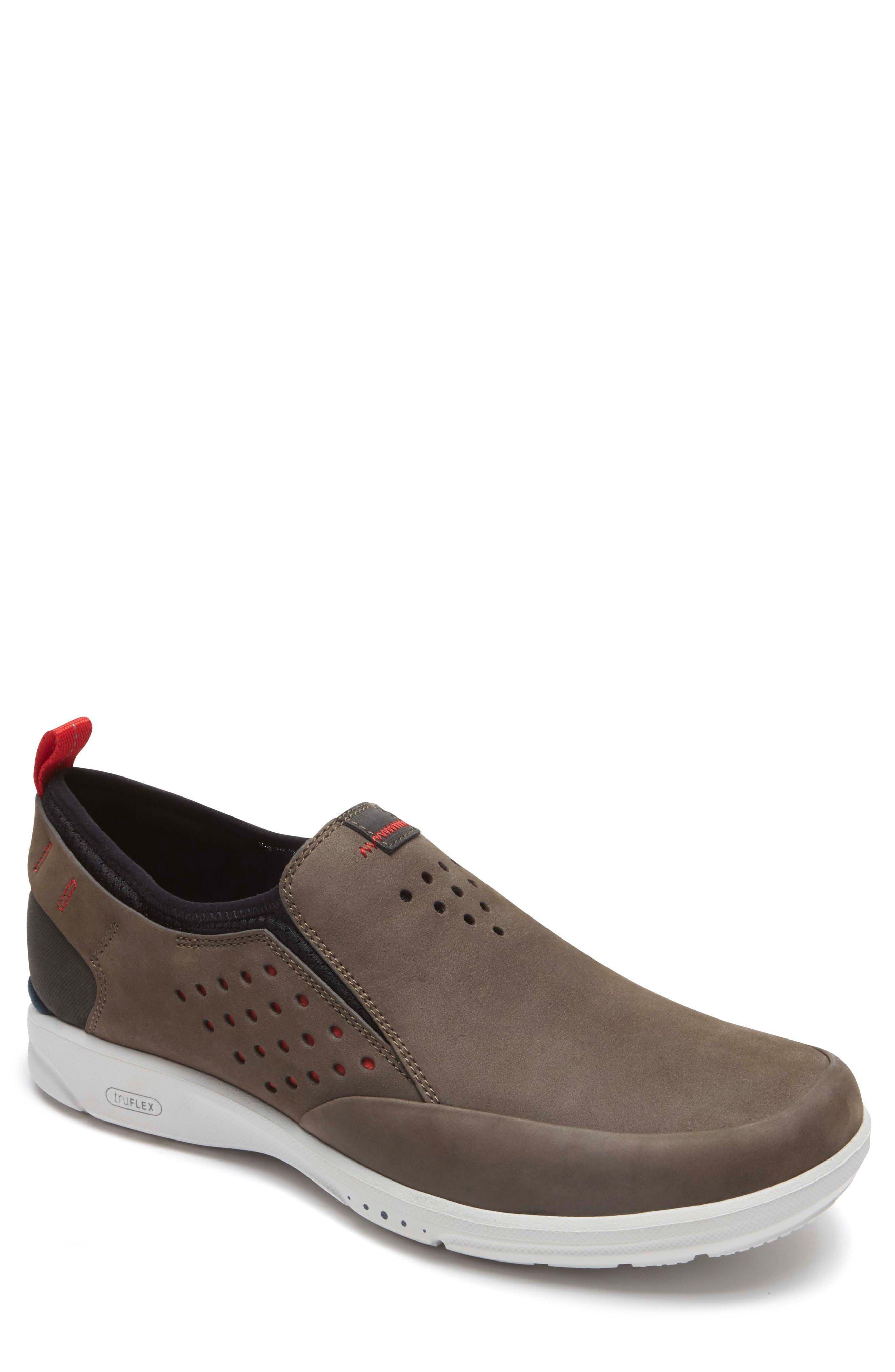 Truflex Slip-On,                         Main,                         color, Dark Olive Leather