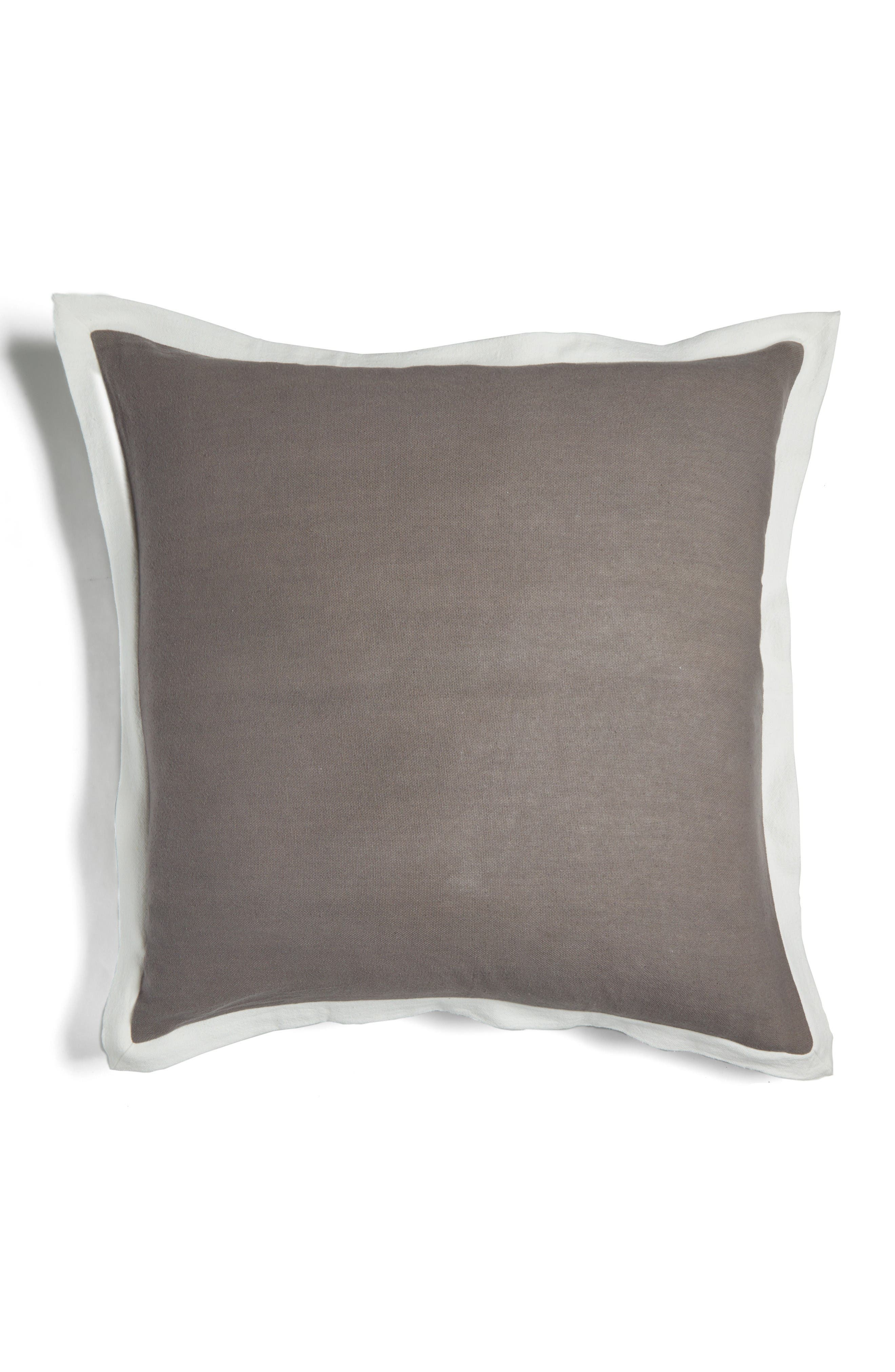 brushstroke garden euro sham,                         Main,                         color, Platinum