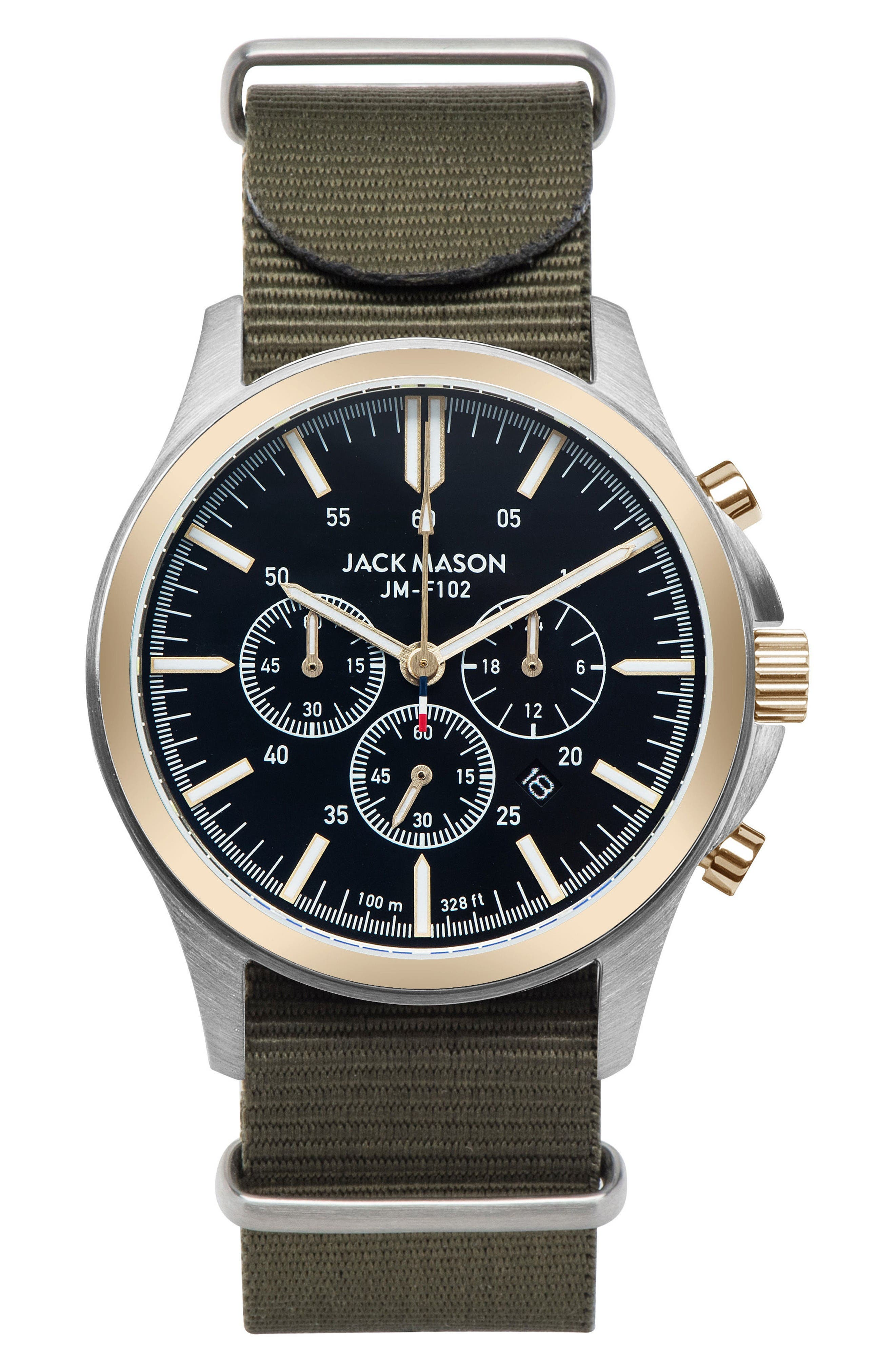 Alternate Image 1 Selected - Jack Mason Field Chronograph NATO Strap Watch, 42mm