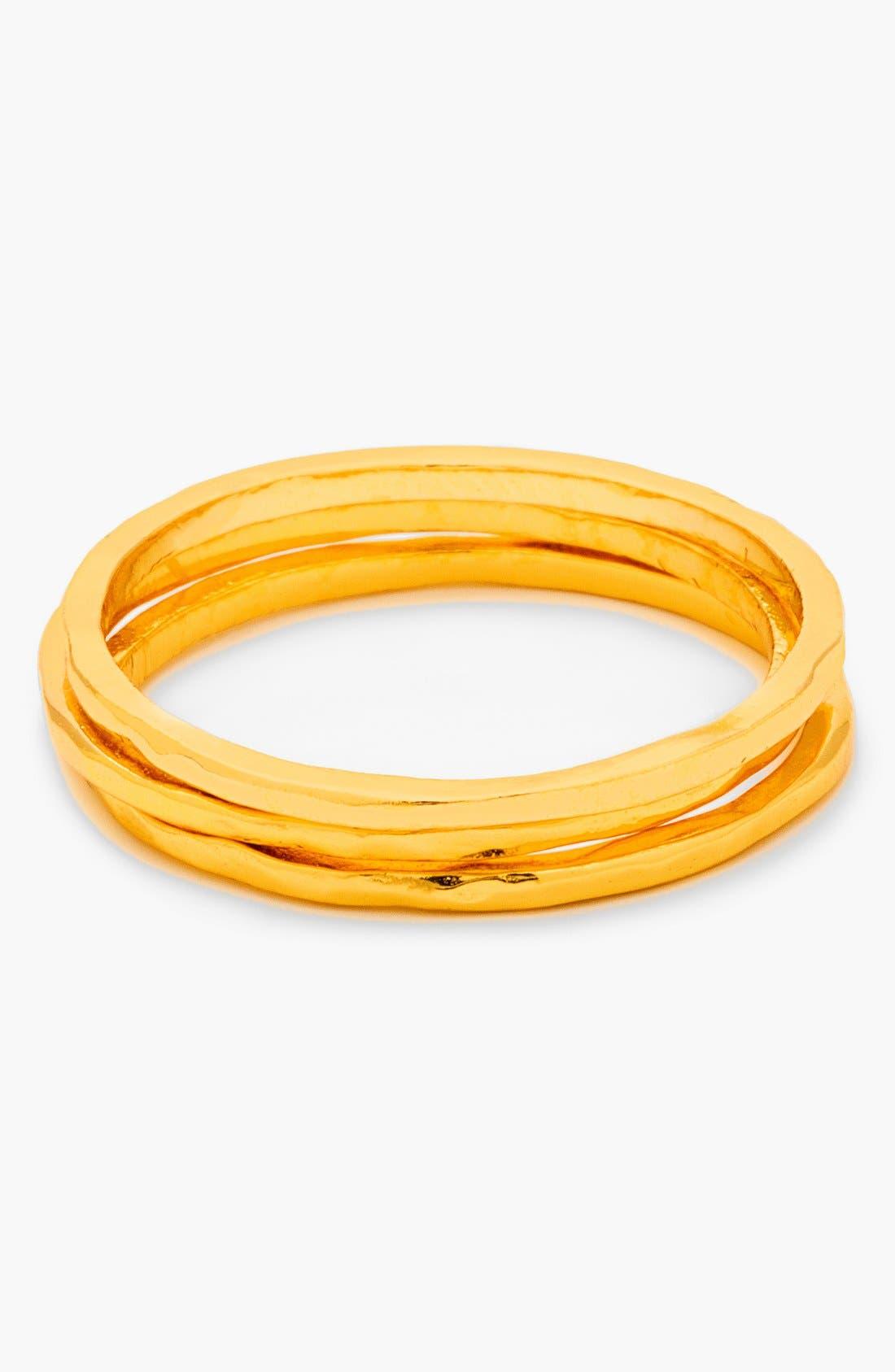 Alternate Image 1 Selected - gorjana 'G Ring' Hammered Stack Rings (Set of 3)