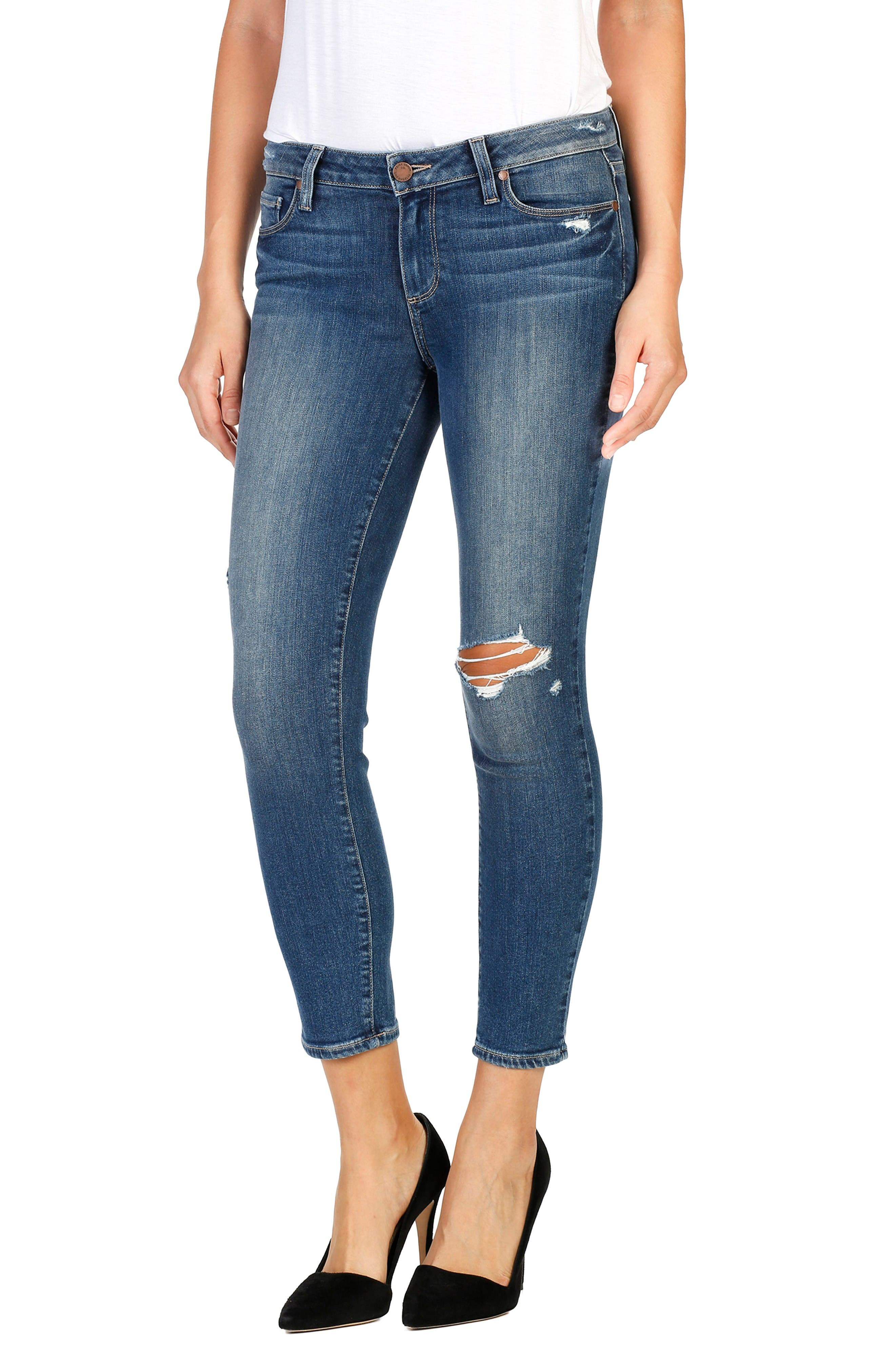 Verdugo Crop Skinny Jeans,                             Main thumbnail 1, color,                             Ramona Destructed