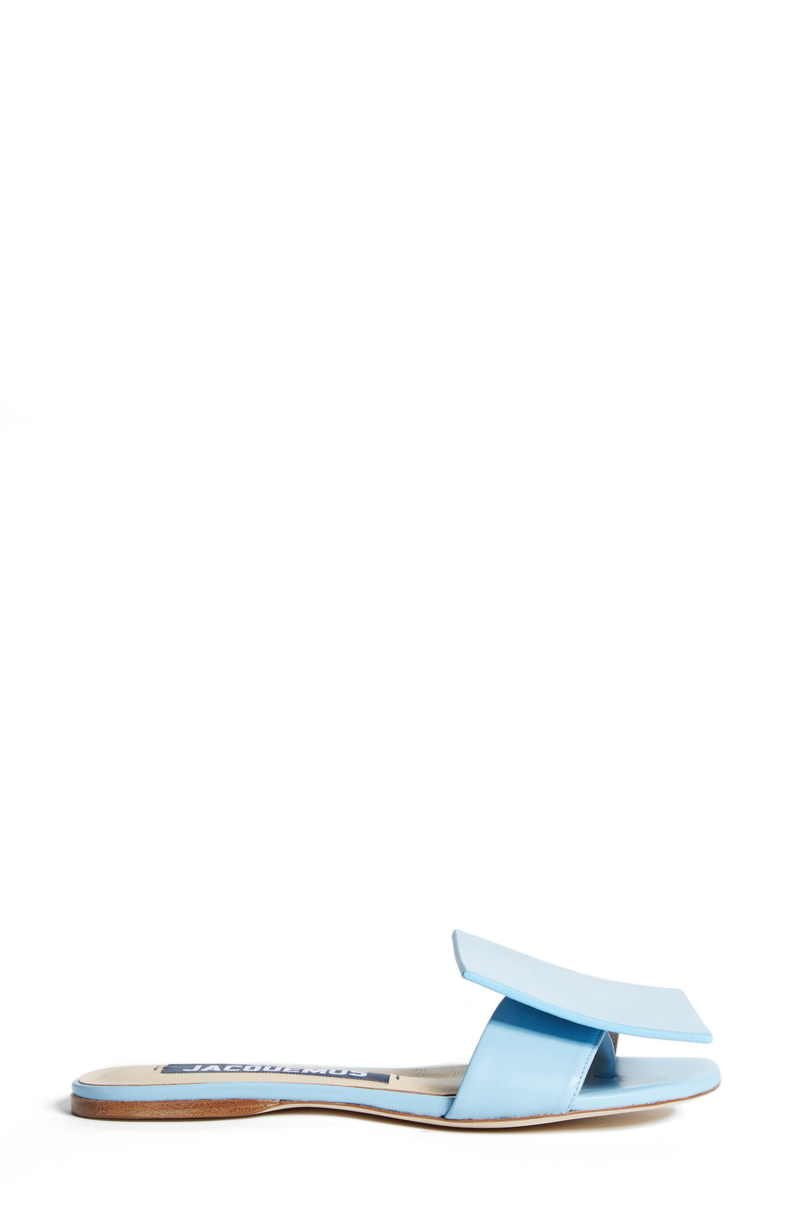 Les Sandales Rond Carré Sandal,                             Alternate thumbnail 4, color,                             Light Blue