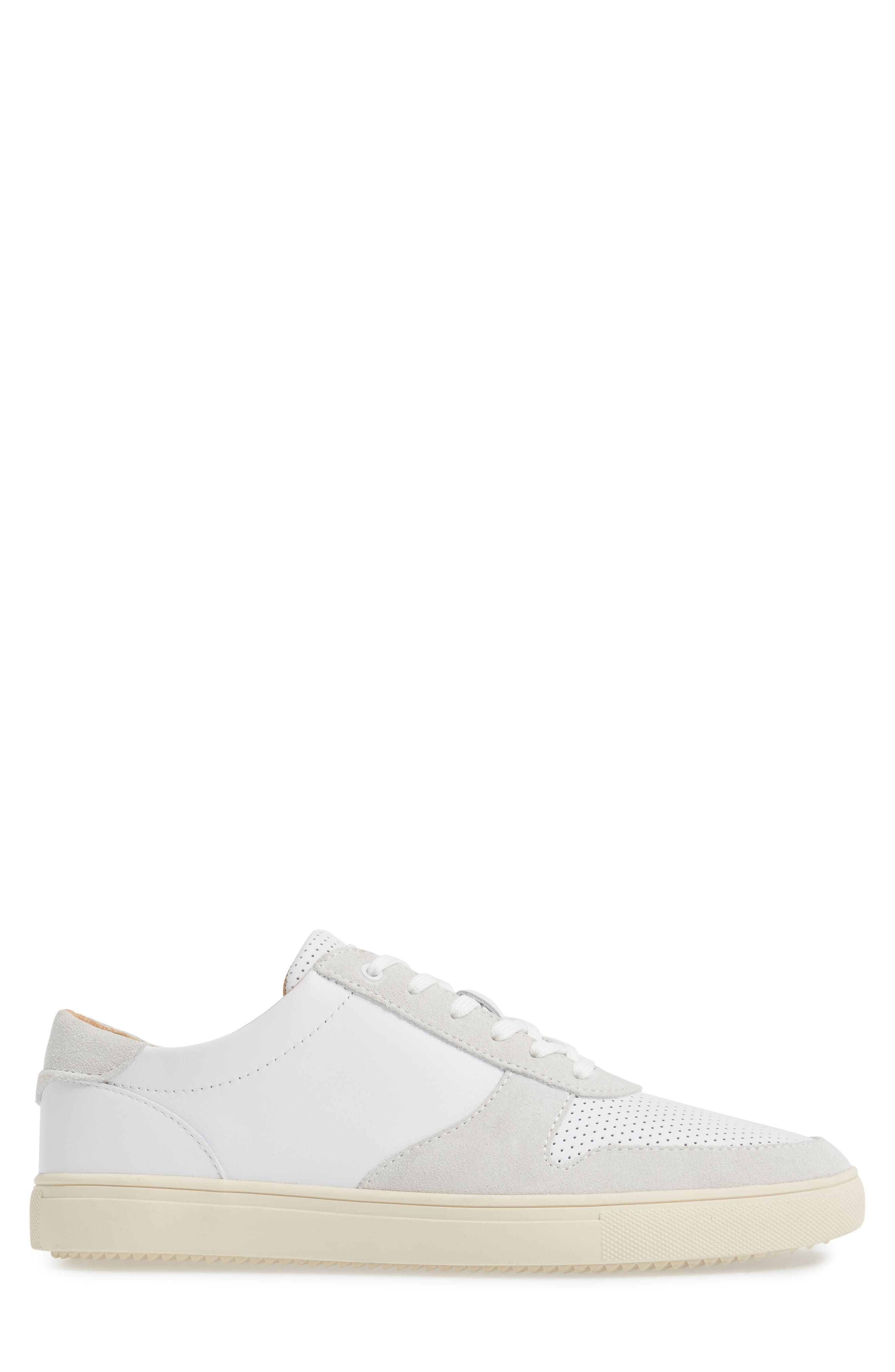 'Gregory' Sneaker,                             Alternate thumbnail 3, color,                             White Leather