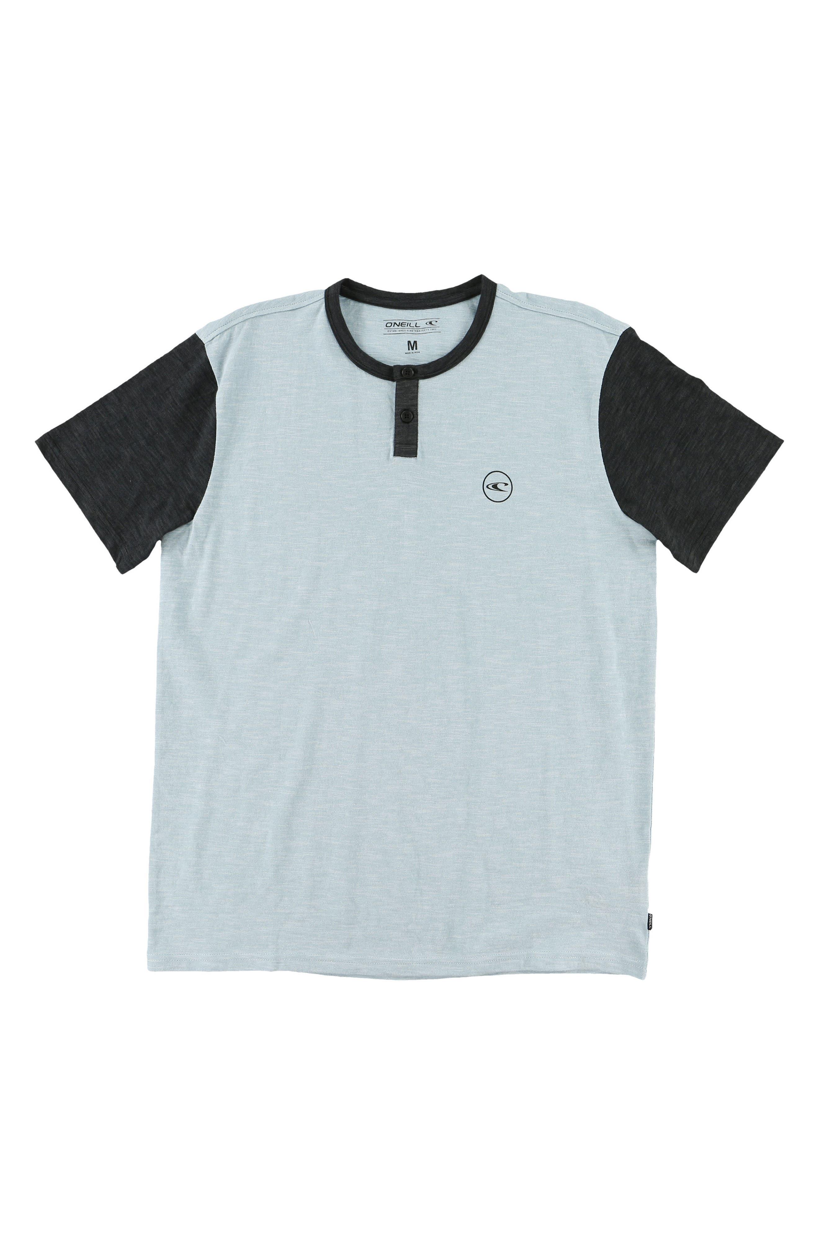 Bay Henley Shirt,                         Main,                         color, Sky Blue