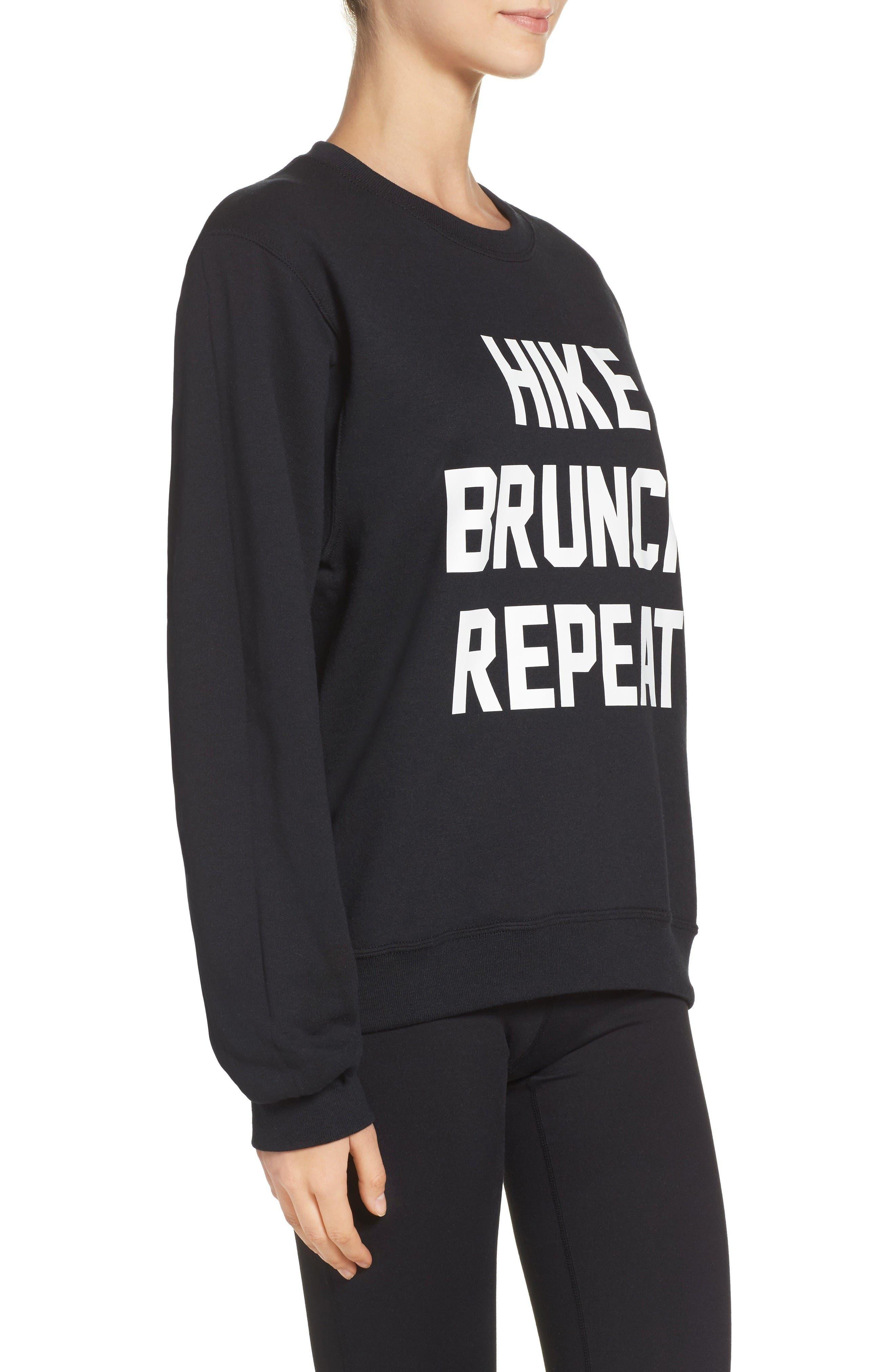Alternate Image 3  - Private Party Hike Brunch Repeat Sweatshirt