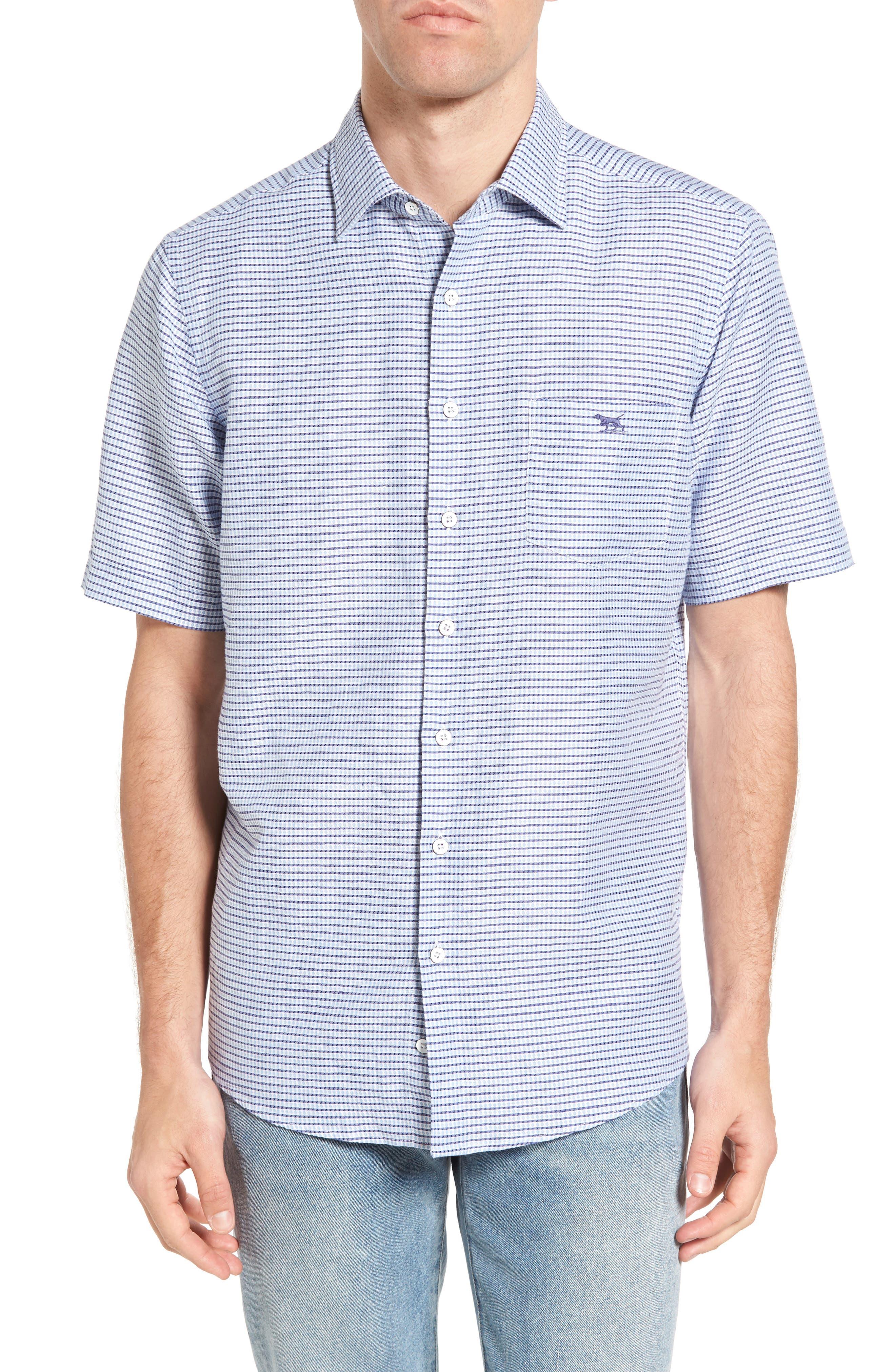 Upper Hutt Original Fit Sport Shirt,                         Main,                         color, Azure