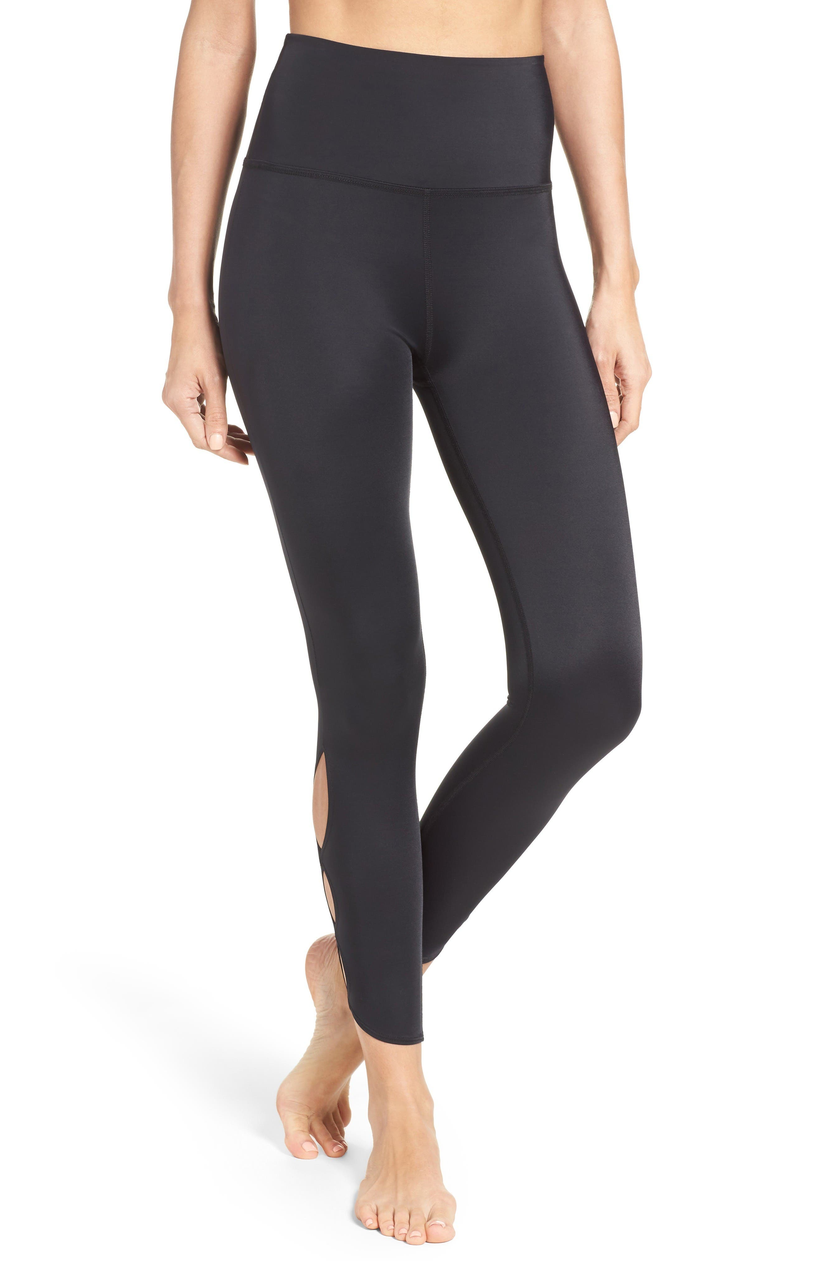Main Image - Beyond Yoga Compression Lux High Waist Half Moon Crop Leggings