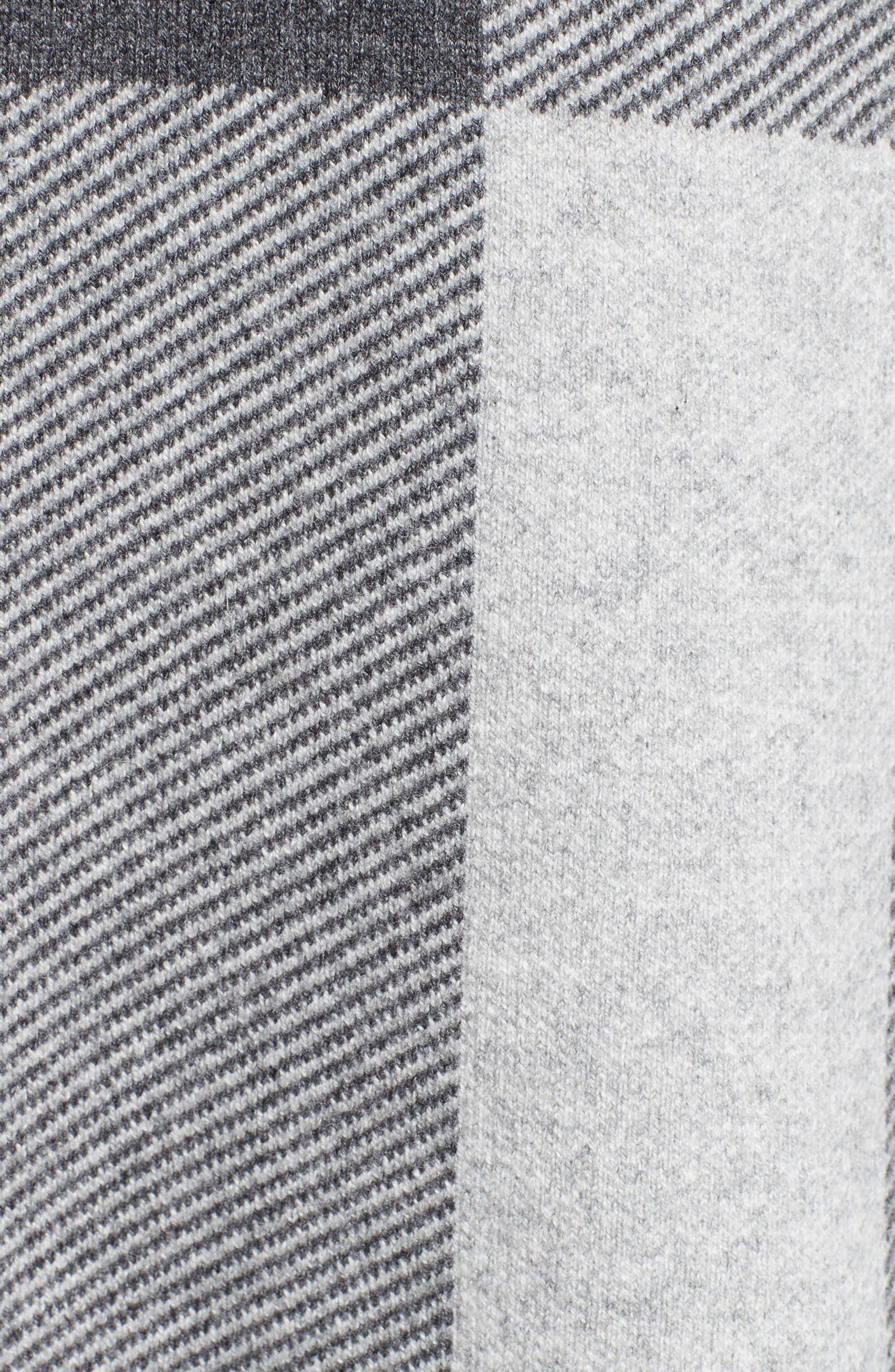 Gorlan Oversize Open Cardigan,                             Alternate thumbnail 3, color,                             Pale Grey Melange