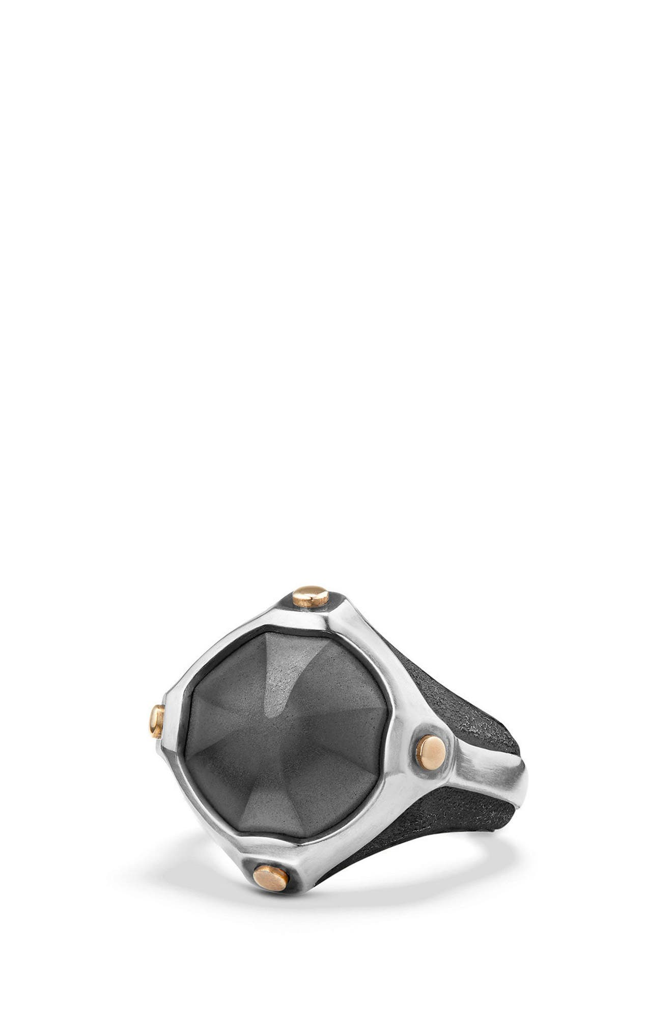 Anvil Signet Ring,                         Main,                         color, Silver/ Bronze/ Hematine
