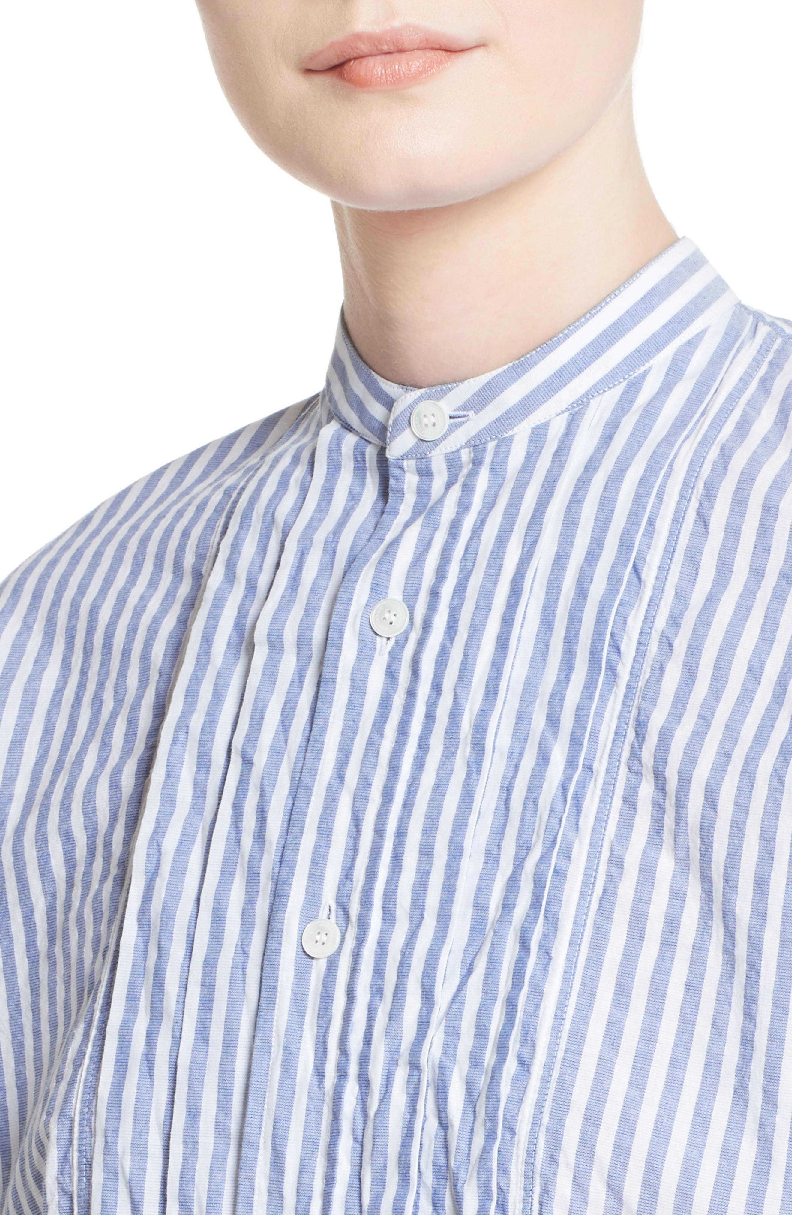 Benfleet Stripe Cotton Top,                             Alternate thumbnail 6, color,                             Pale Blue/ White