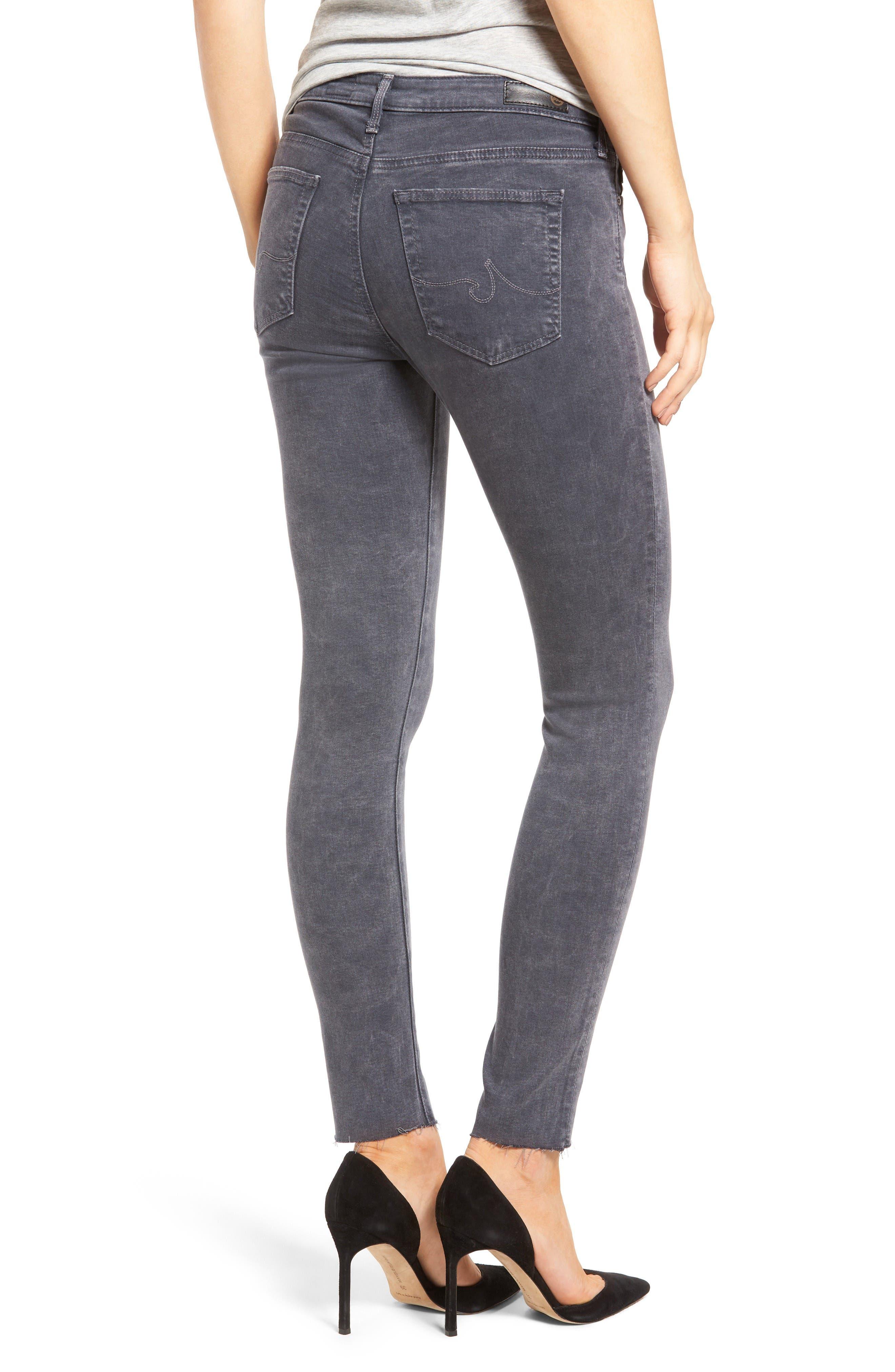 Alternate Image 2  - AG Middi Ankle Skinny Jeans (Erosion)