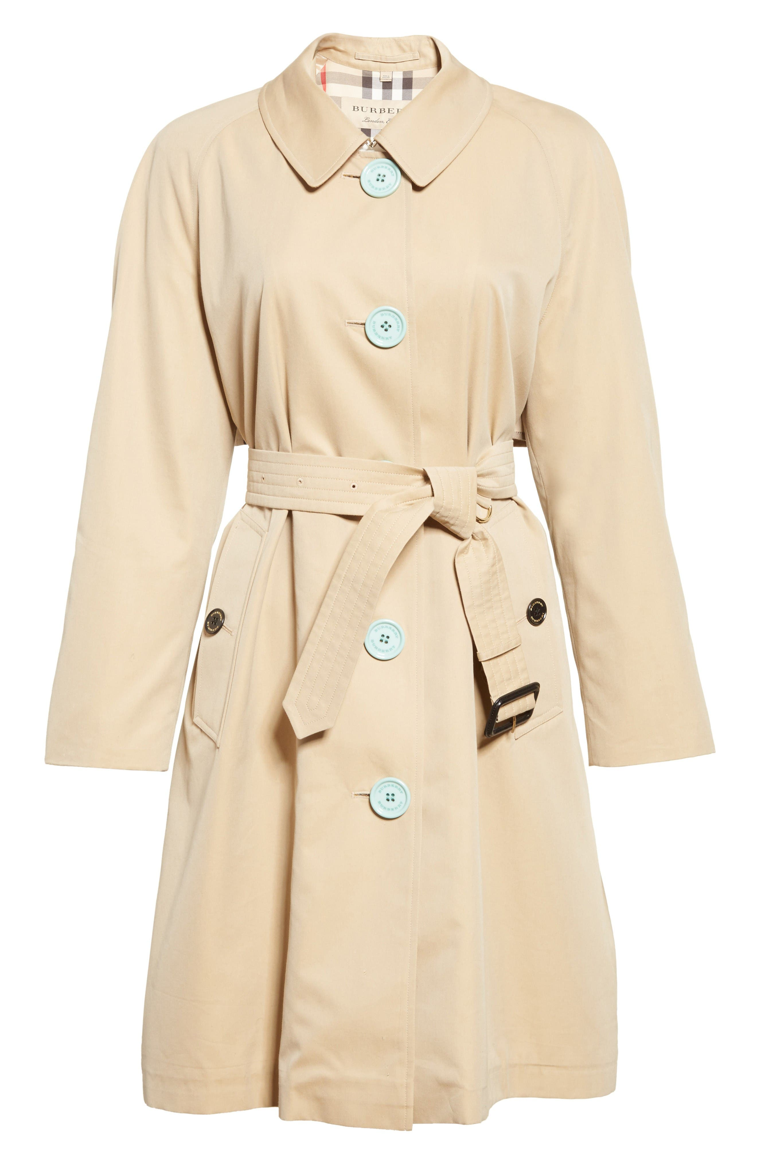 Brinkhill Trench Coat,                             Alternate thumbnail 4, color,                             Honey