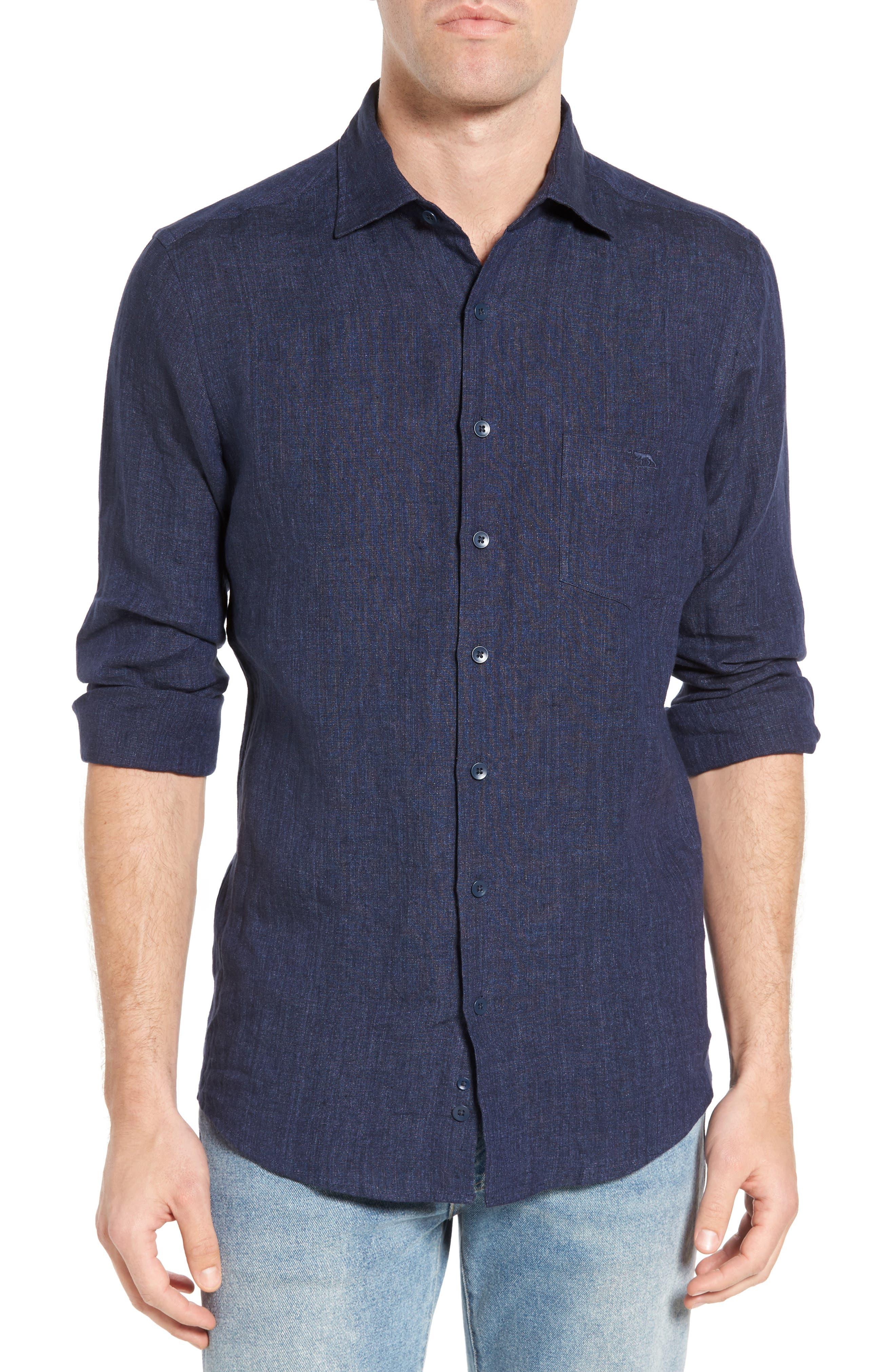 Alternate Image 1 Selected - Rodd & Gunn Mount Bruce Sports Fit Linen Sport Shirt