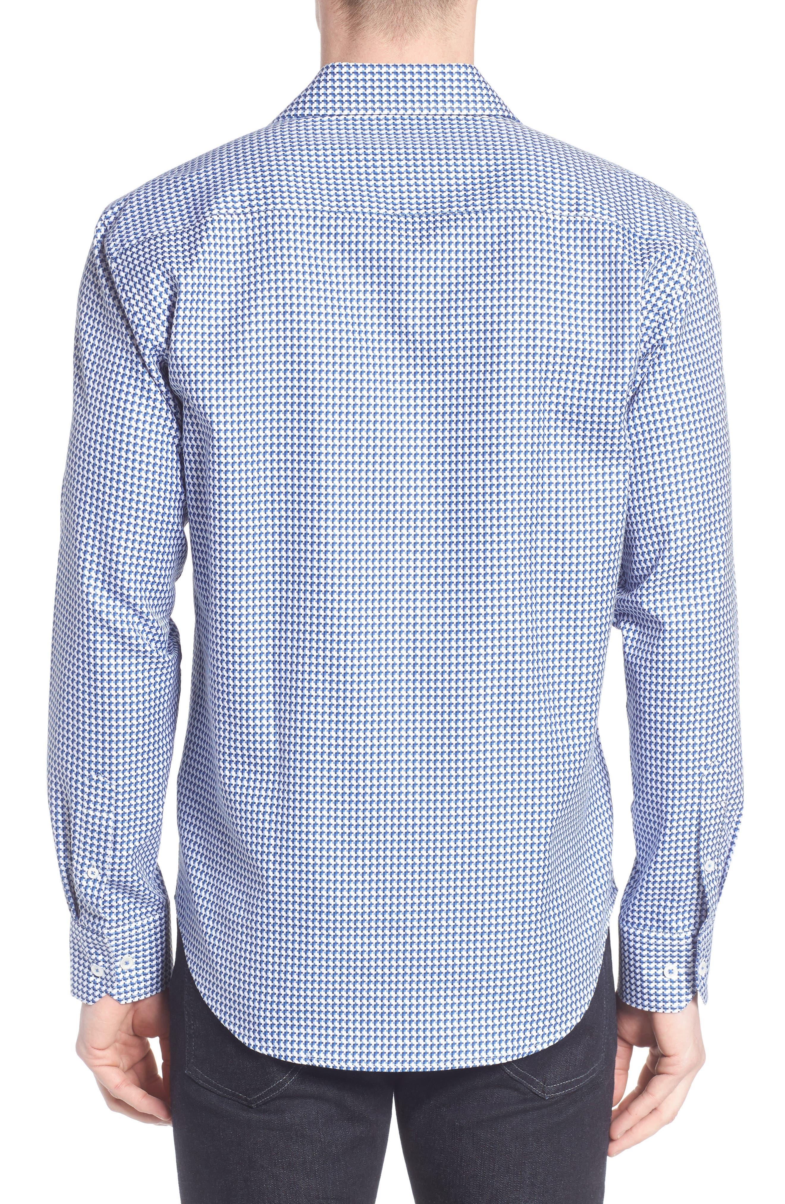 Alternate Image 2  - Bugatchi Shaped Fit Geo Sport Shirt