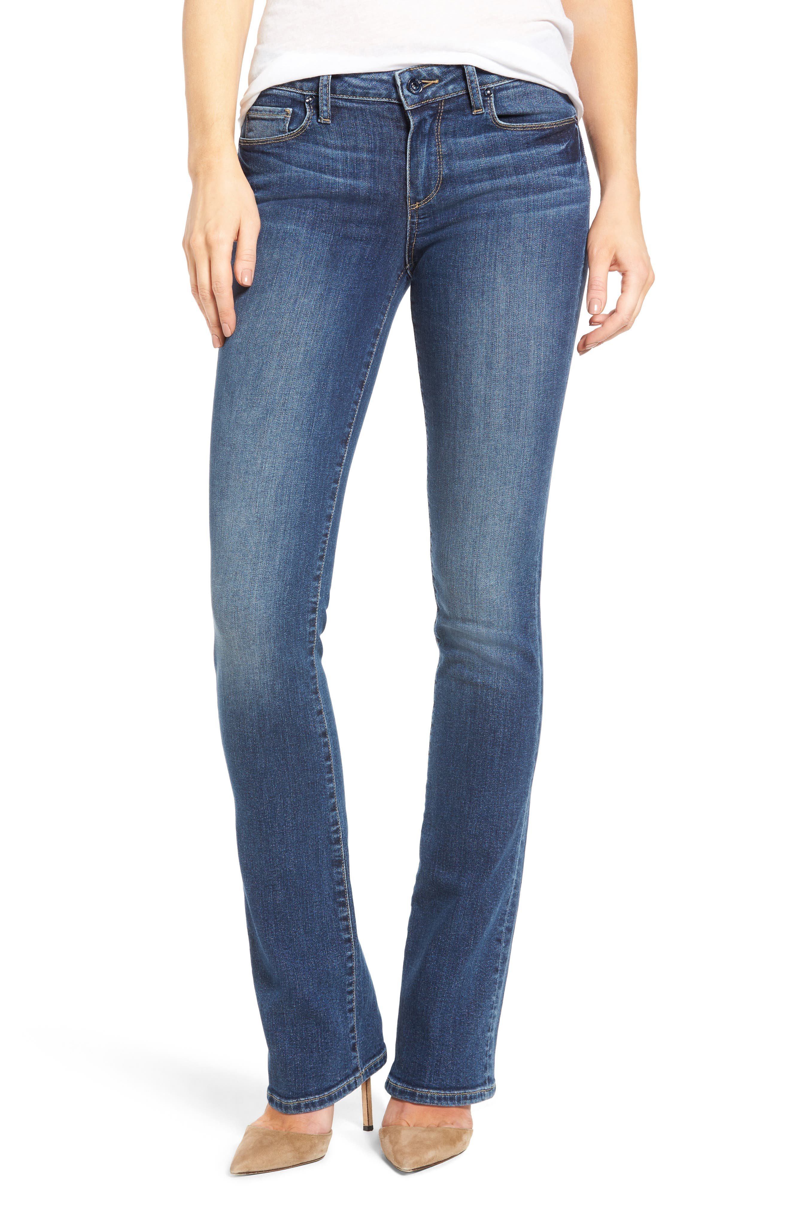 Alternate Image 1 Selected - PAIGE Transcend - Manhattan Bootcut Jeans (Lane)