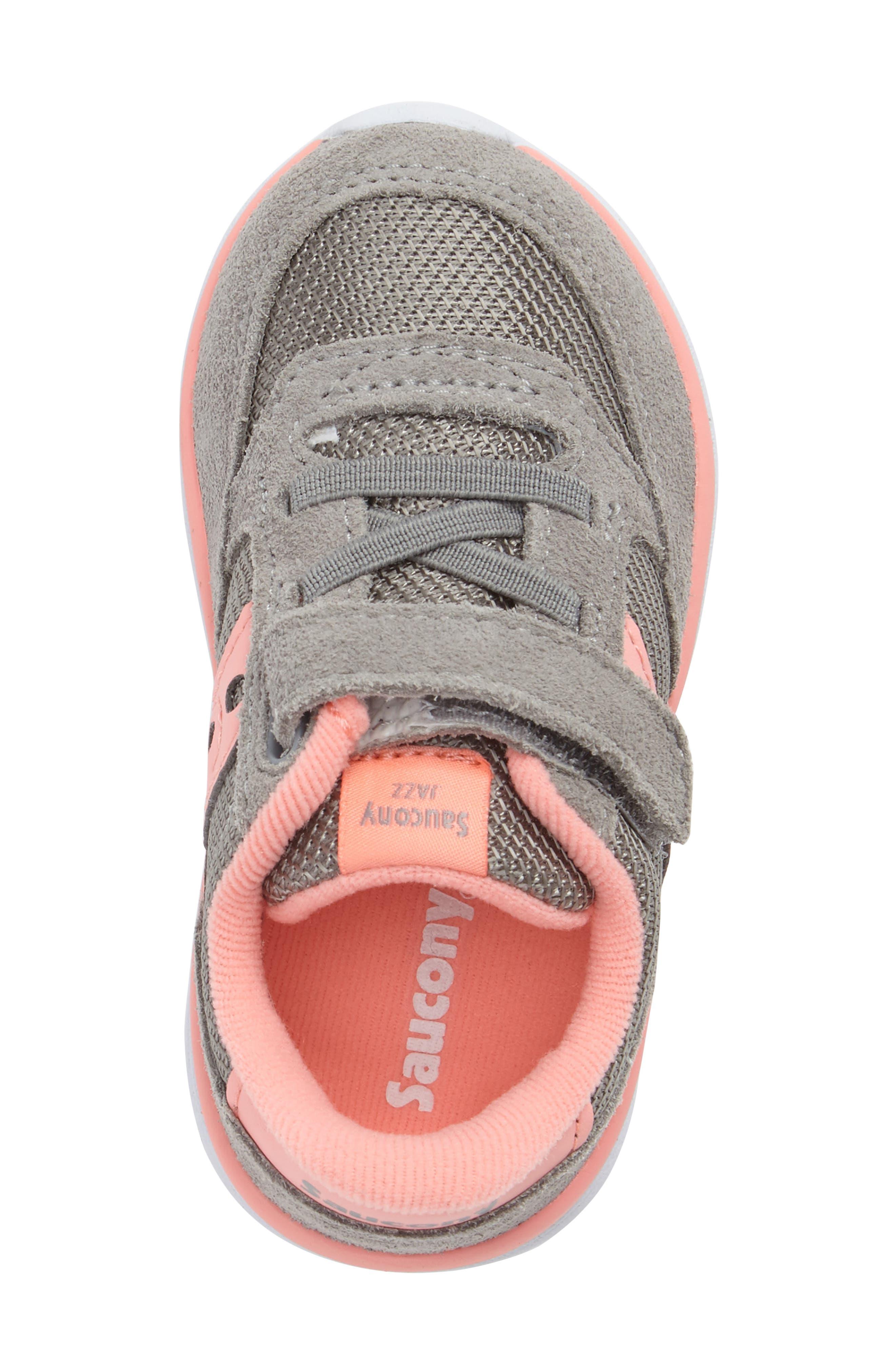 Jazz Lite Sneaker,                             Alternate thumbnail 5, color,                             Grey/ Coral