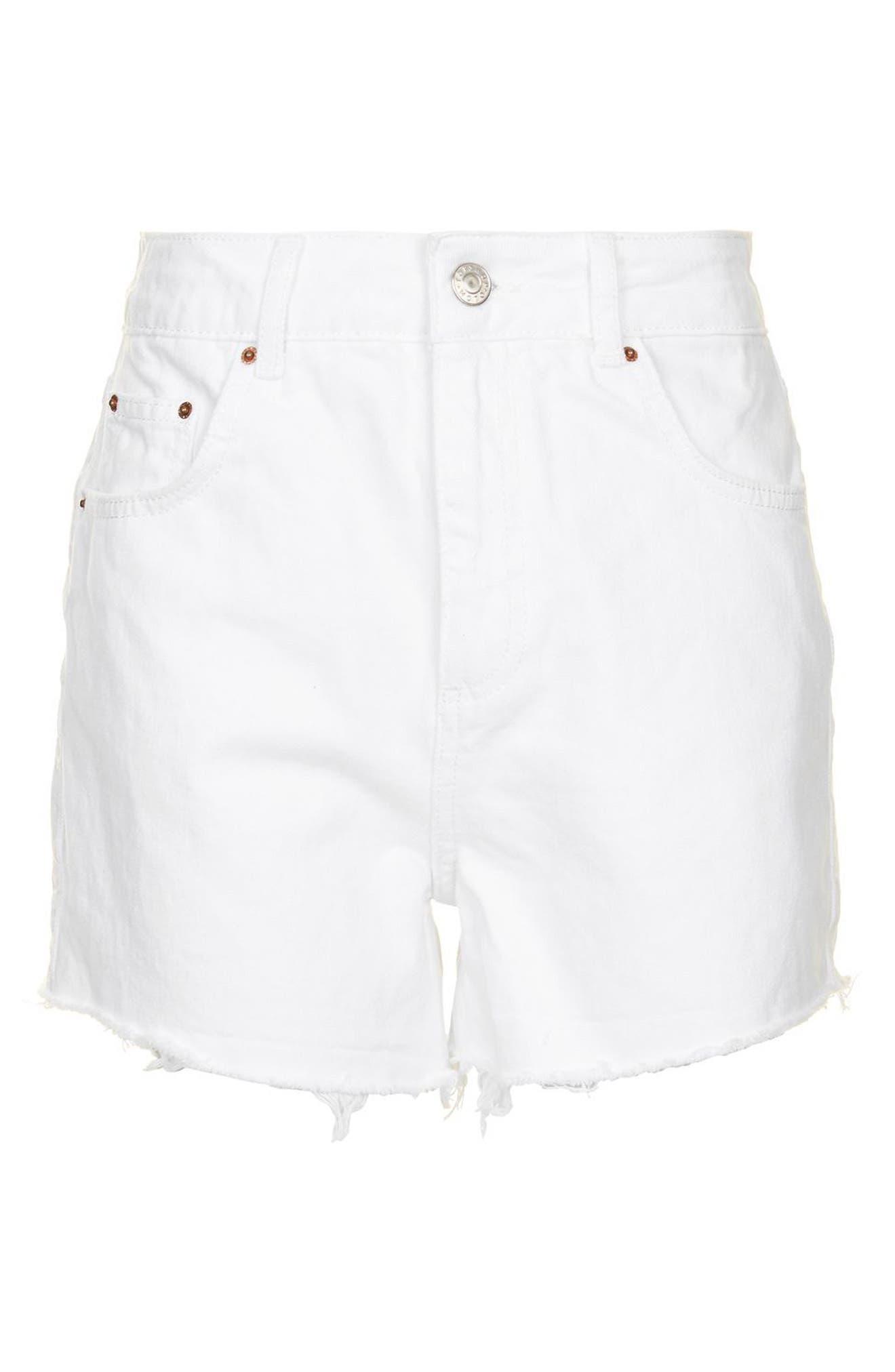 Mom Shorts,                             Alternate thumbnail 4, color,                             White