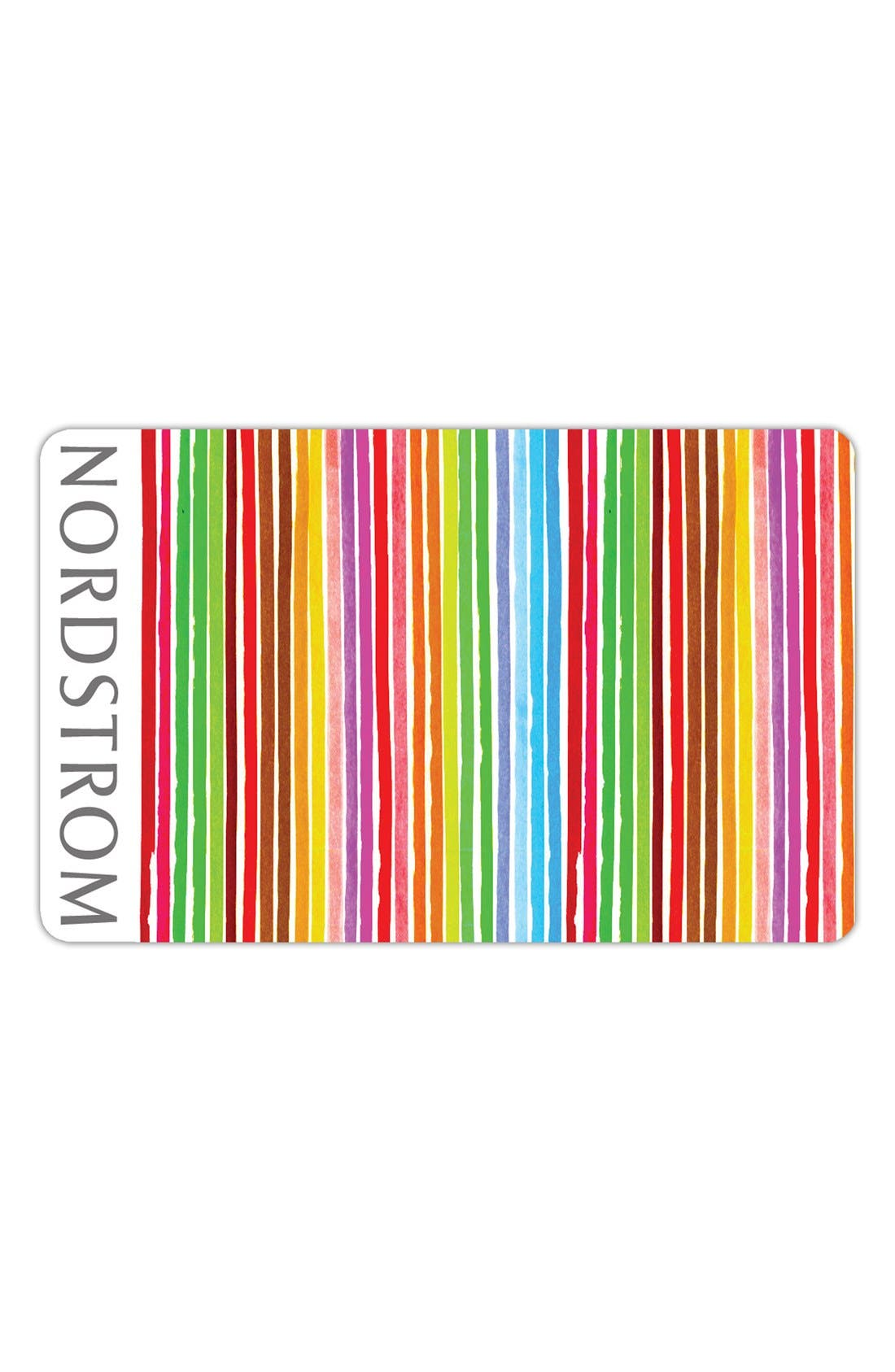 Nordstrom Colorful Stripes Gift Card