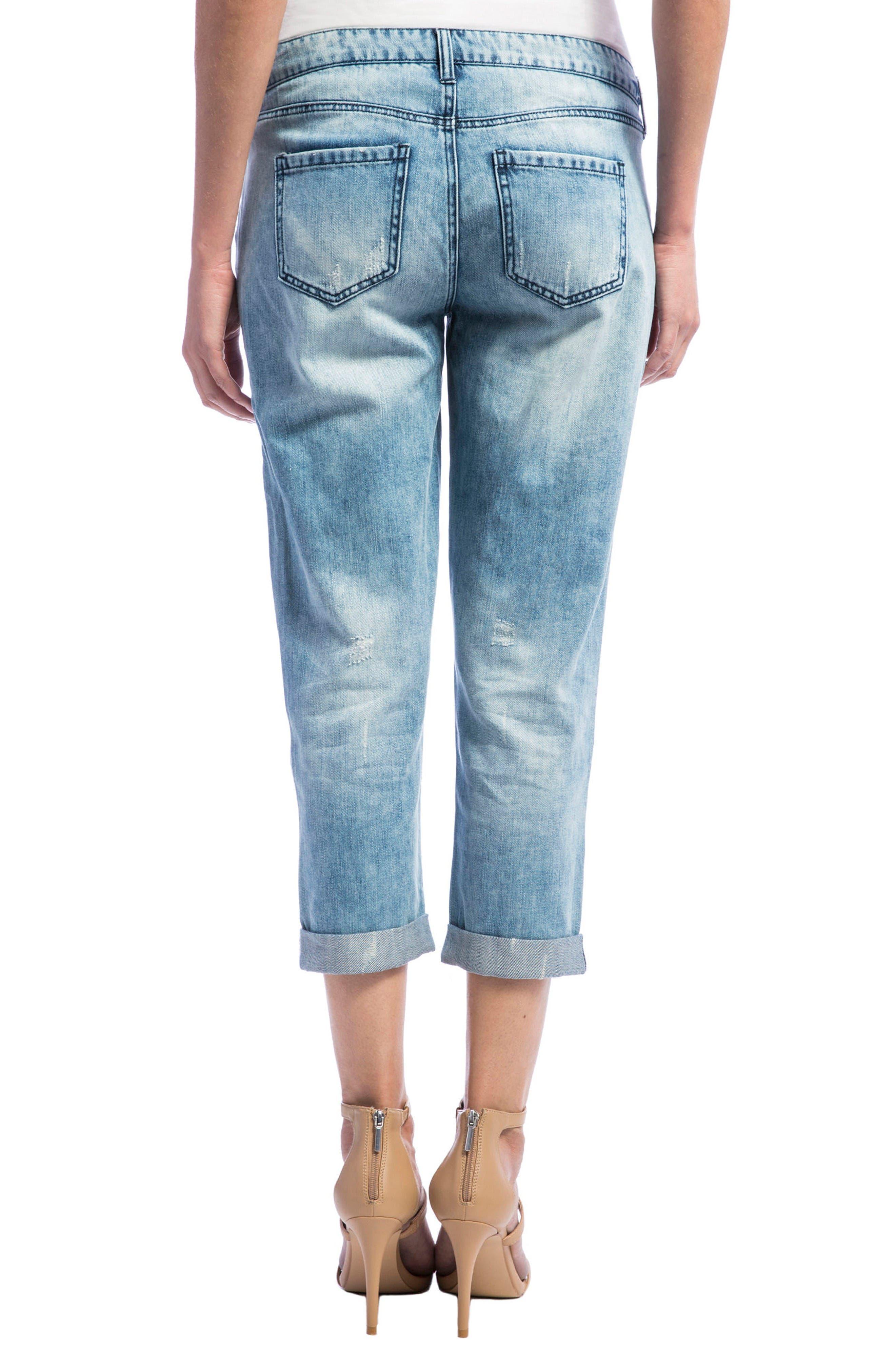 Alternate Image 2  - Liverpool Jeans Company Cameron Crop Boyfriend Jeans