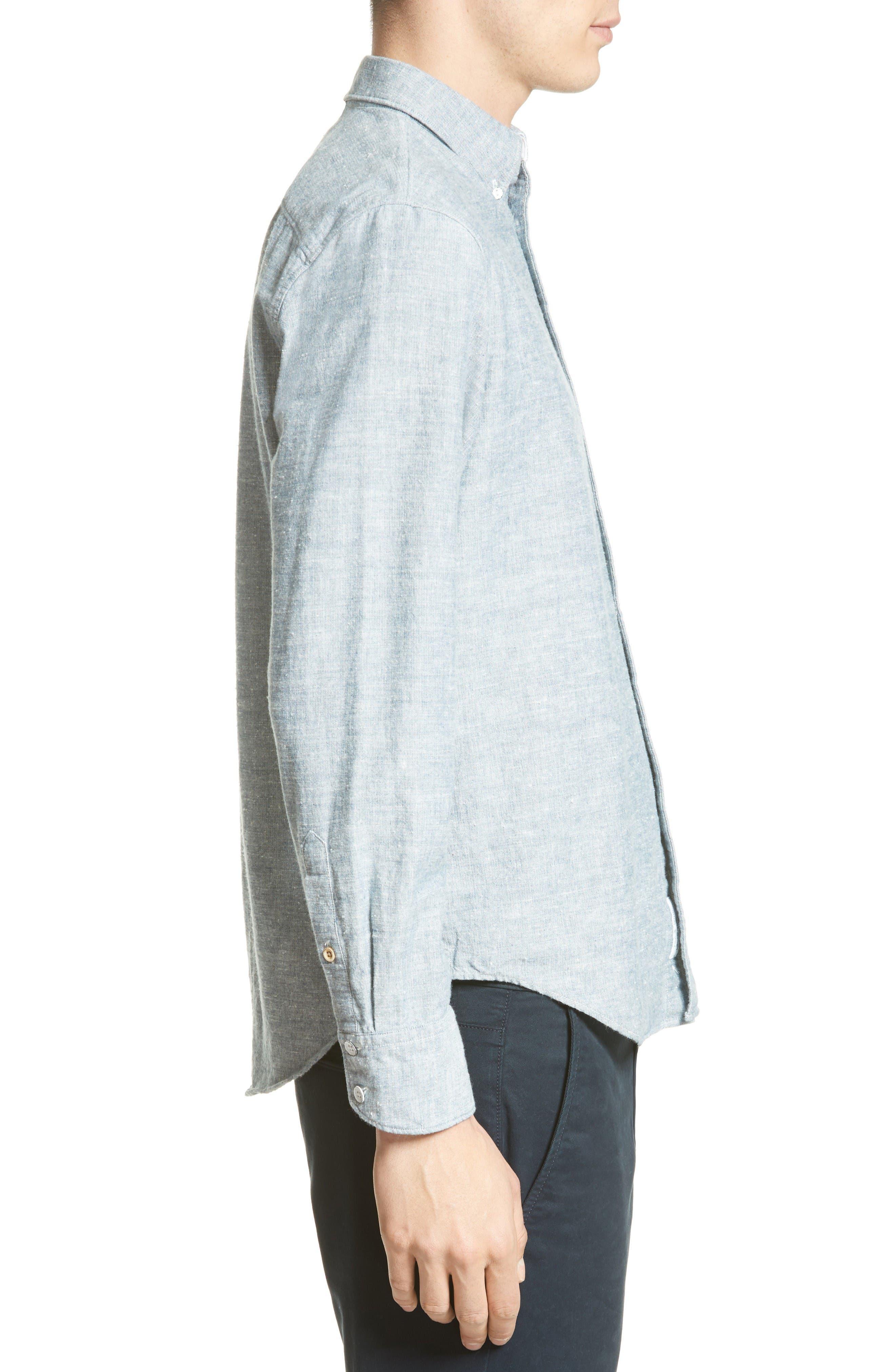 Alternate Image 3  - rag & bone Tomlin Cotton Sport Shirt