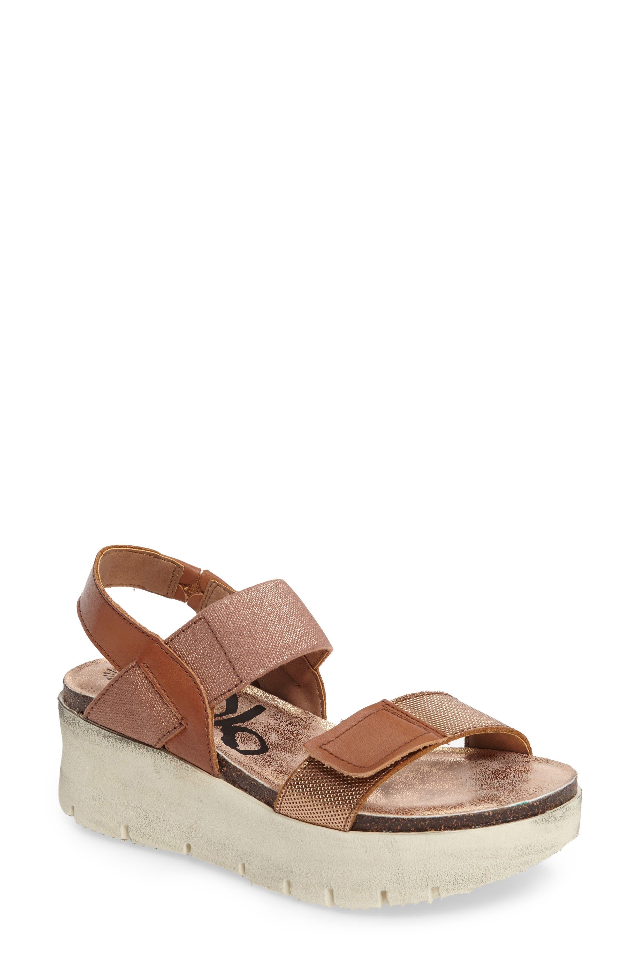 Nova Platform Sandal,                         Main,                         color, Copper Leather