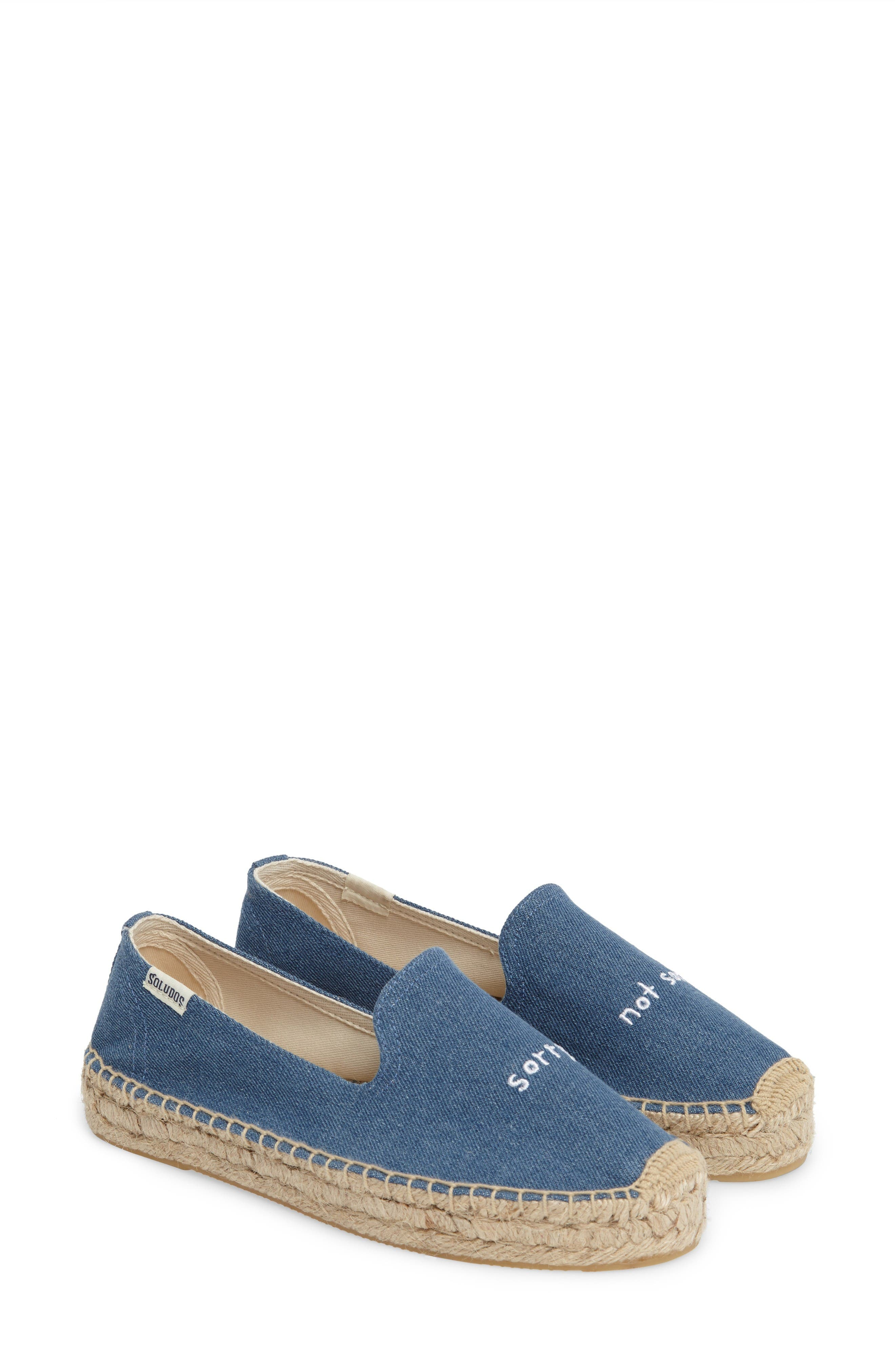 Soludos x ASHKAHN Sorry Embroidered Platform Espadrille (Women)