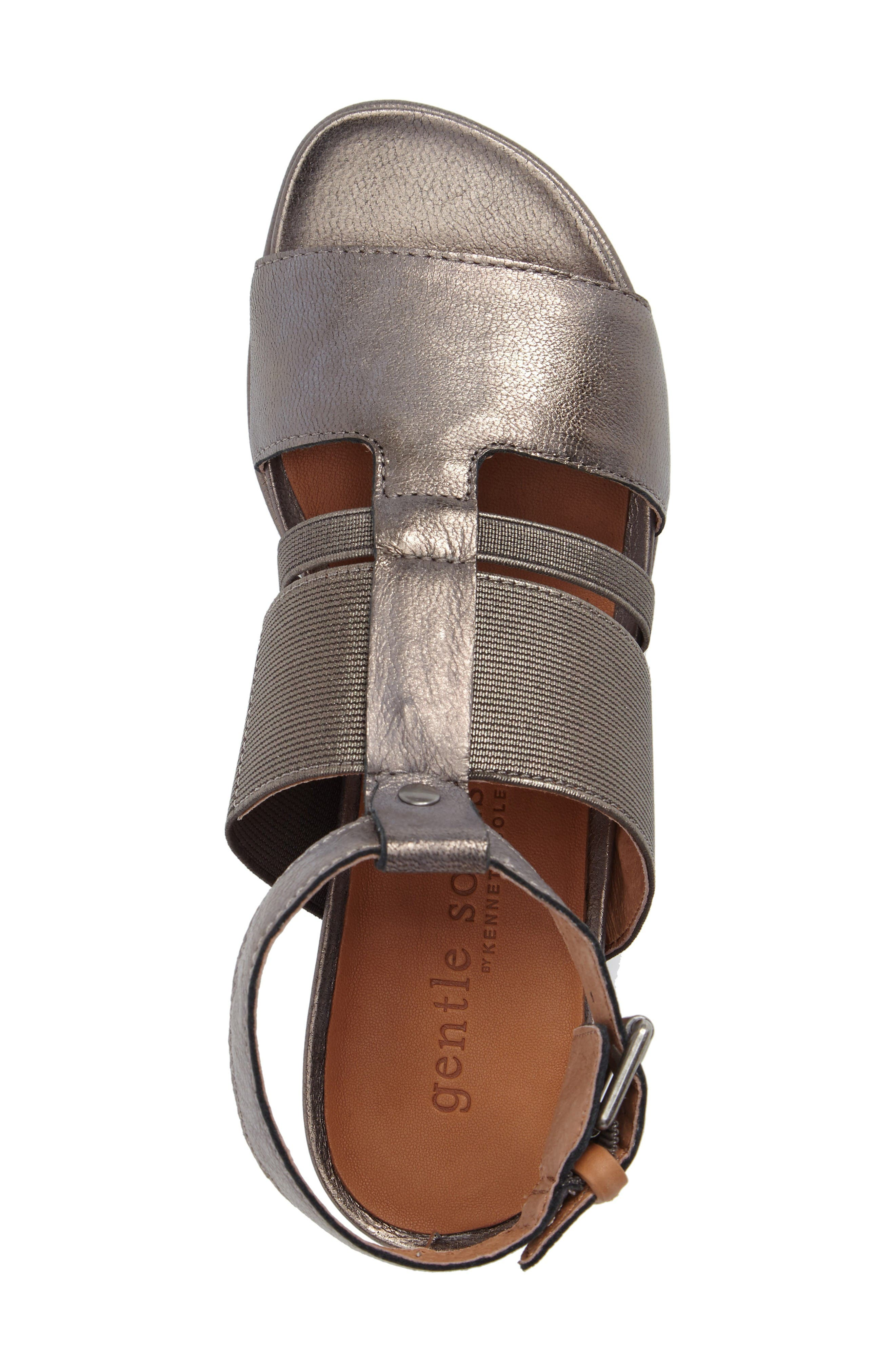 by Kenneth Cole Ophelia Sandal,                             Alternate thumbnail 5, color,                             Pewter Leather