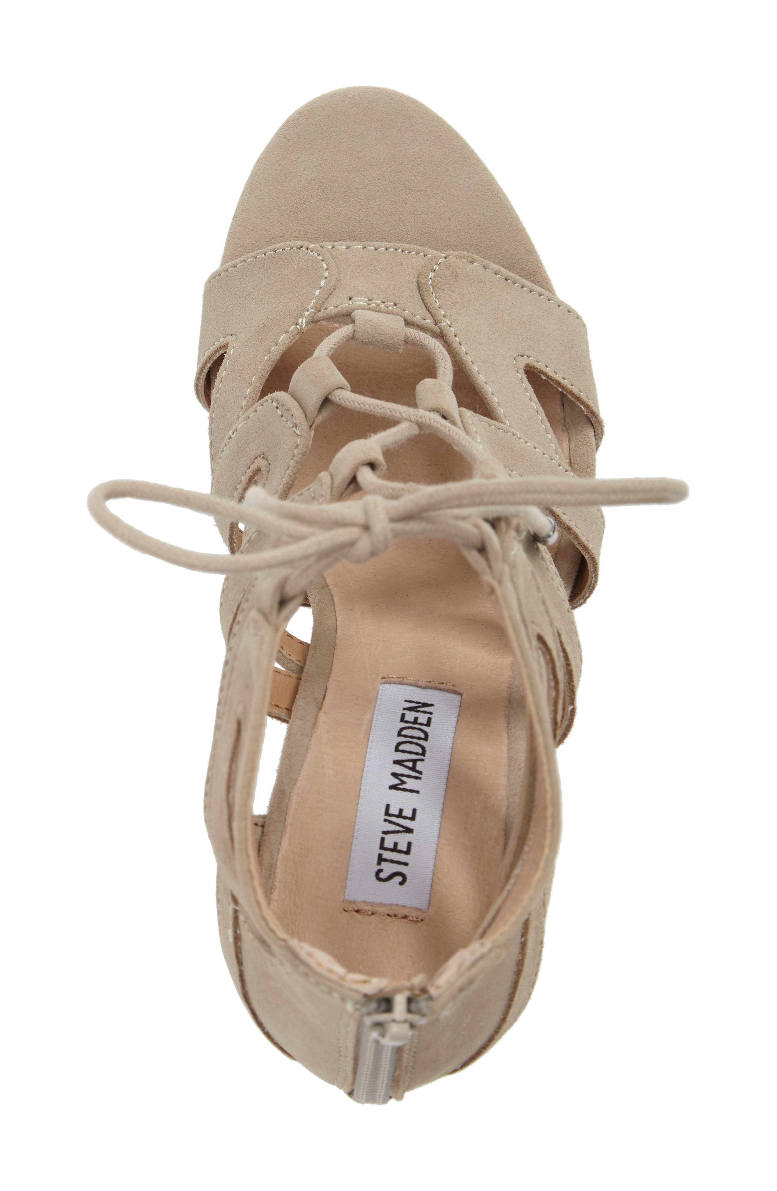 Gwyneth Sandal,                             Alternate thumbnail 5, color,                             Taupe Suede