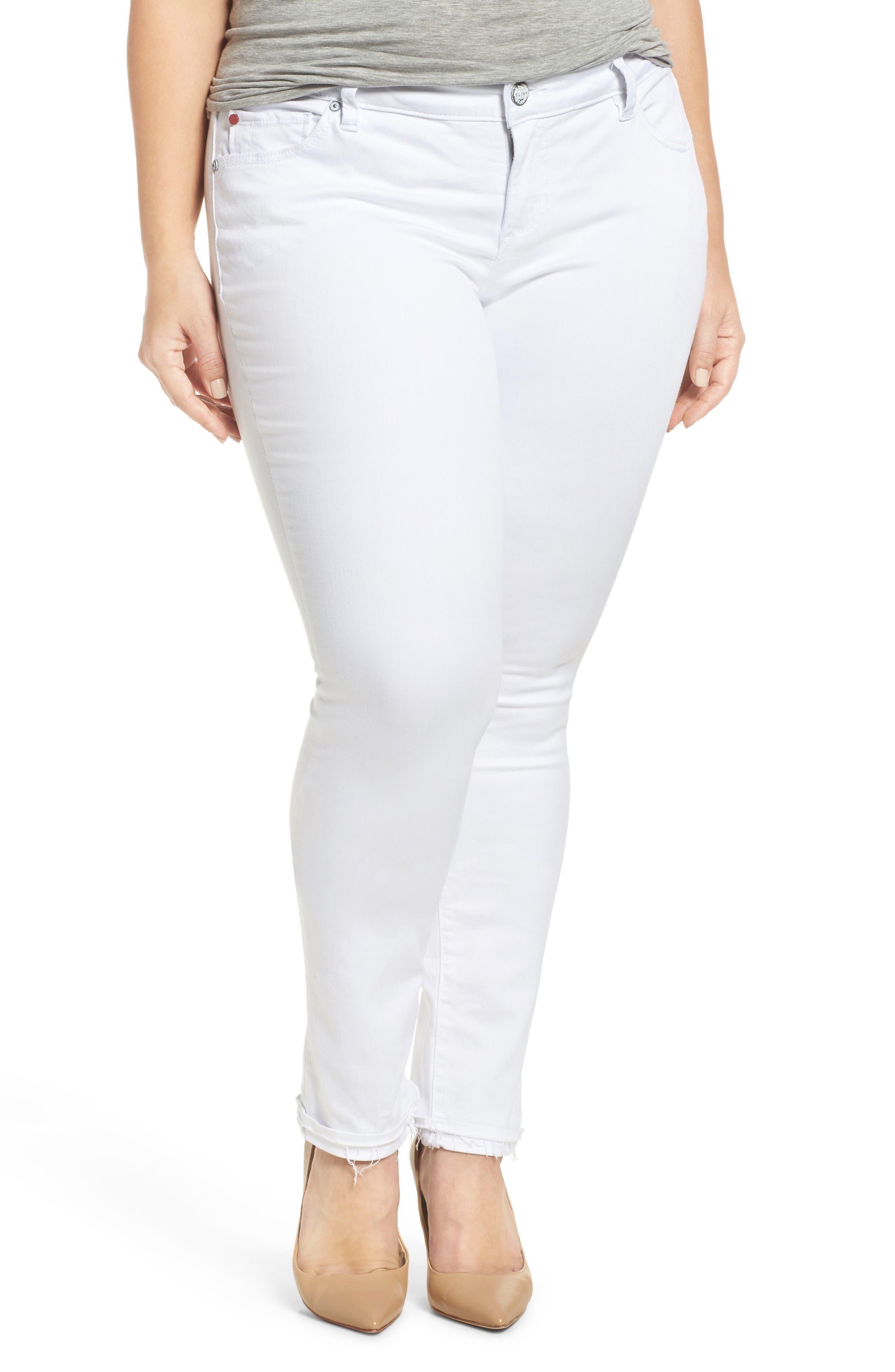 Main Image - SLINK Jeans Release Hem Skinny Jeans (Lexy) (Plus Size)