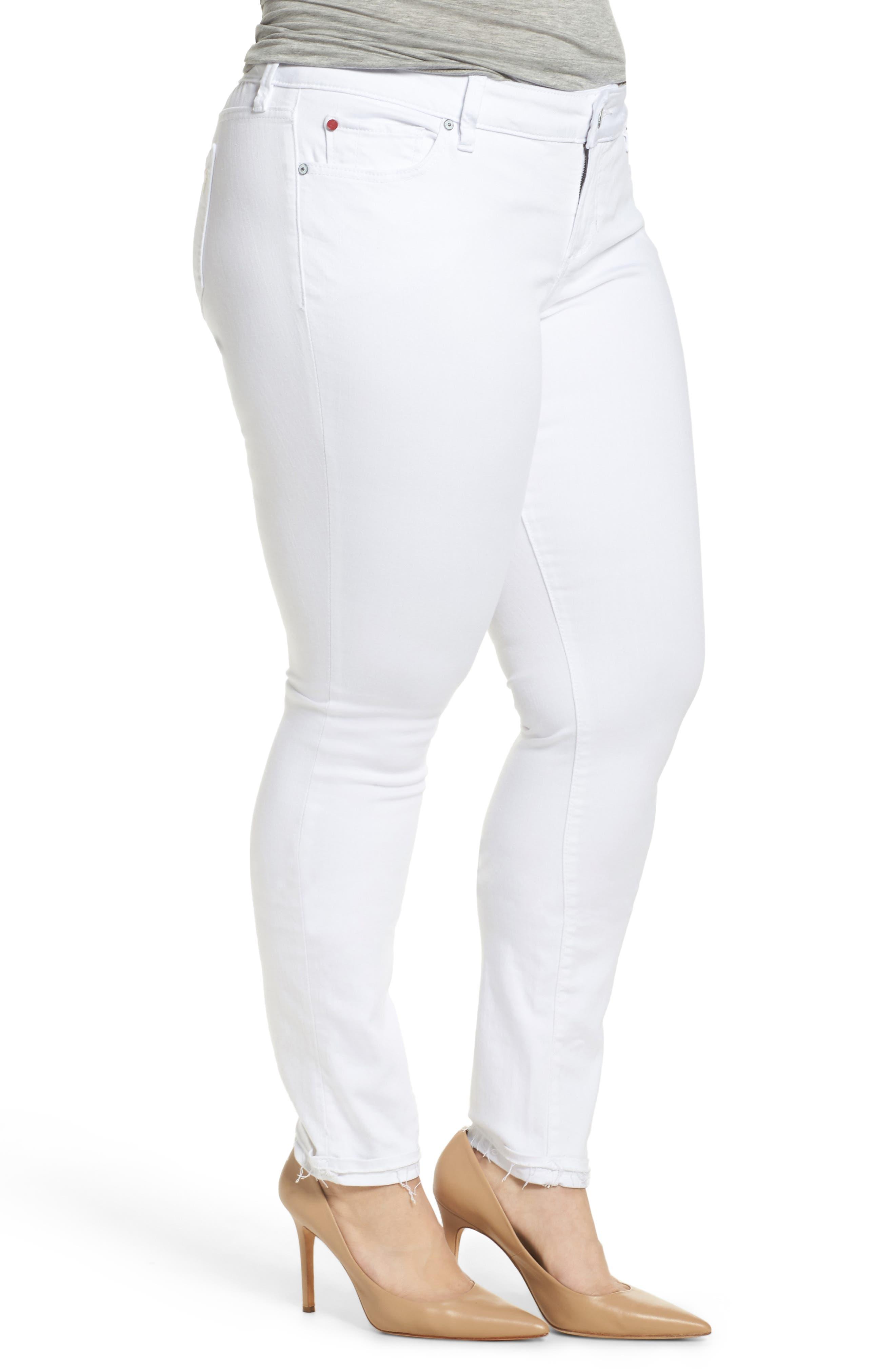 Release Hem Skinny Jeans,                             Alternate thumbnail 3, color,                             Lexy