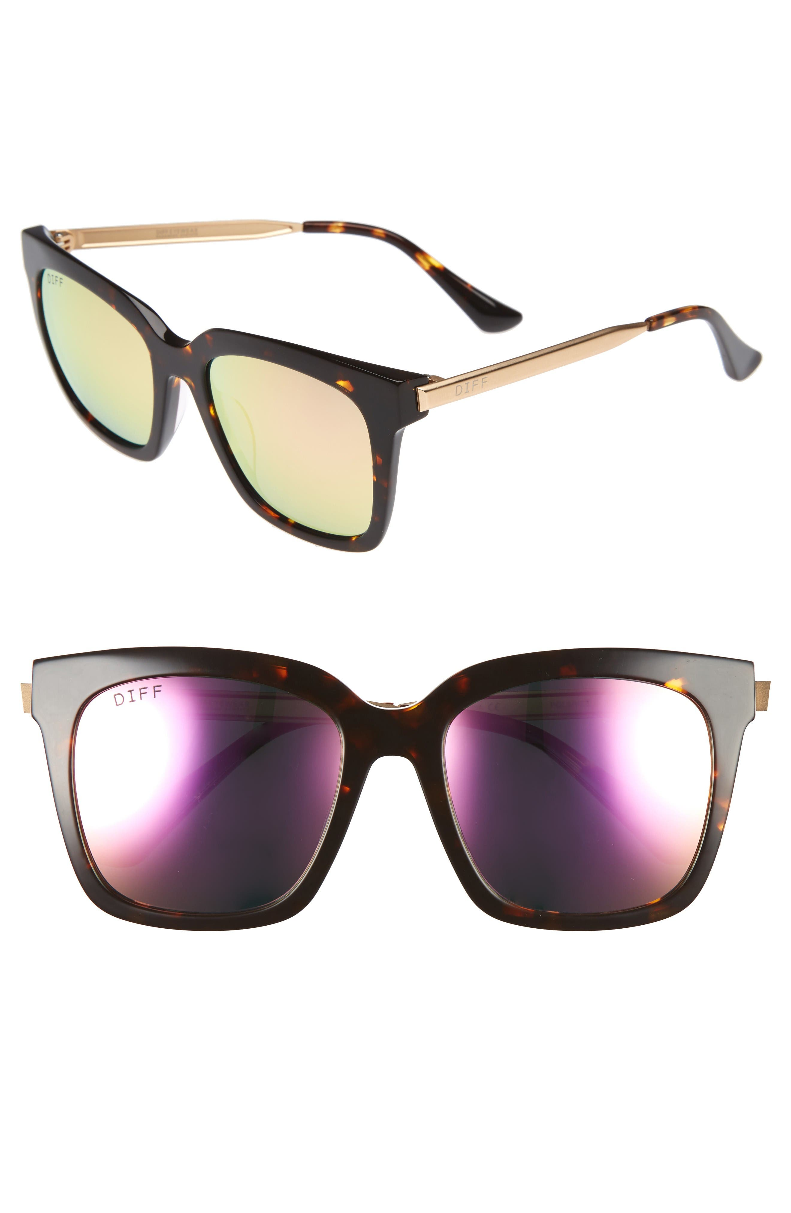 Alternate Image 1 Selected - DIFF Bella 52mm Polarized Sunglasses