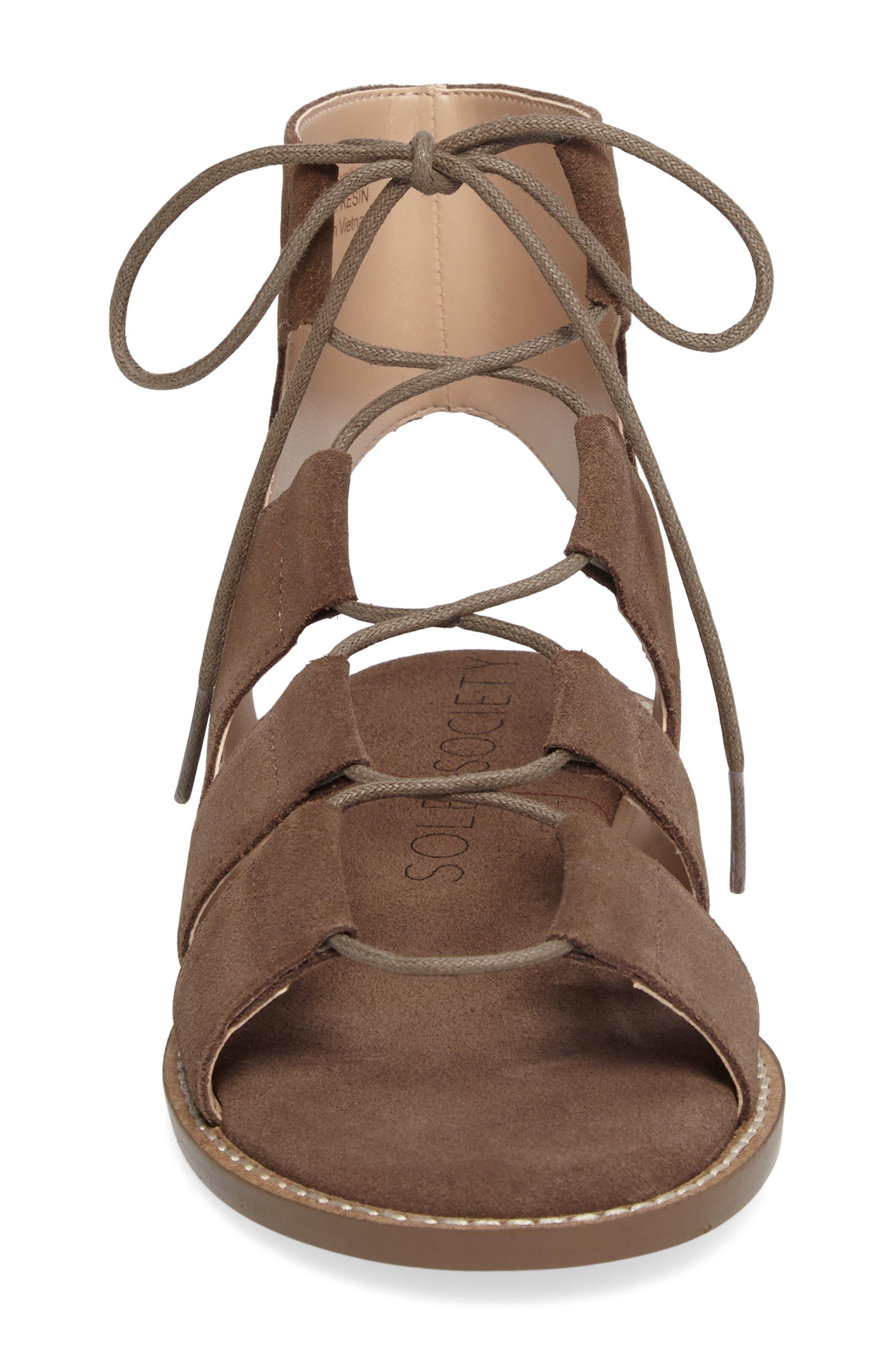 Alternate Image 4  - Sole Society 'Cady' Lace-Up Flat Sandal (Women)