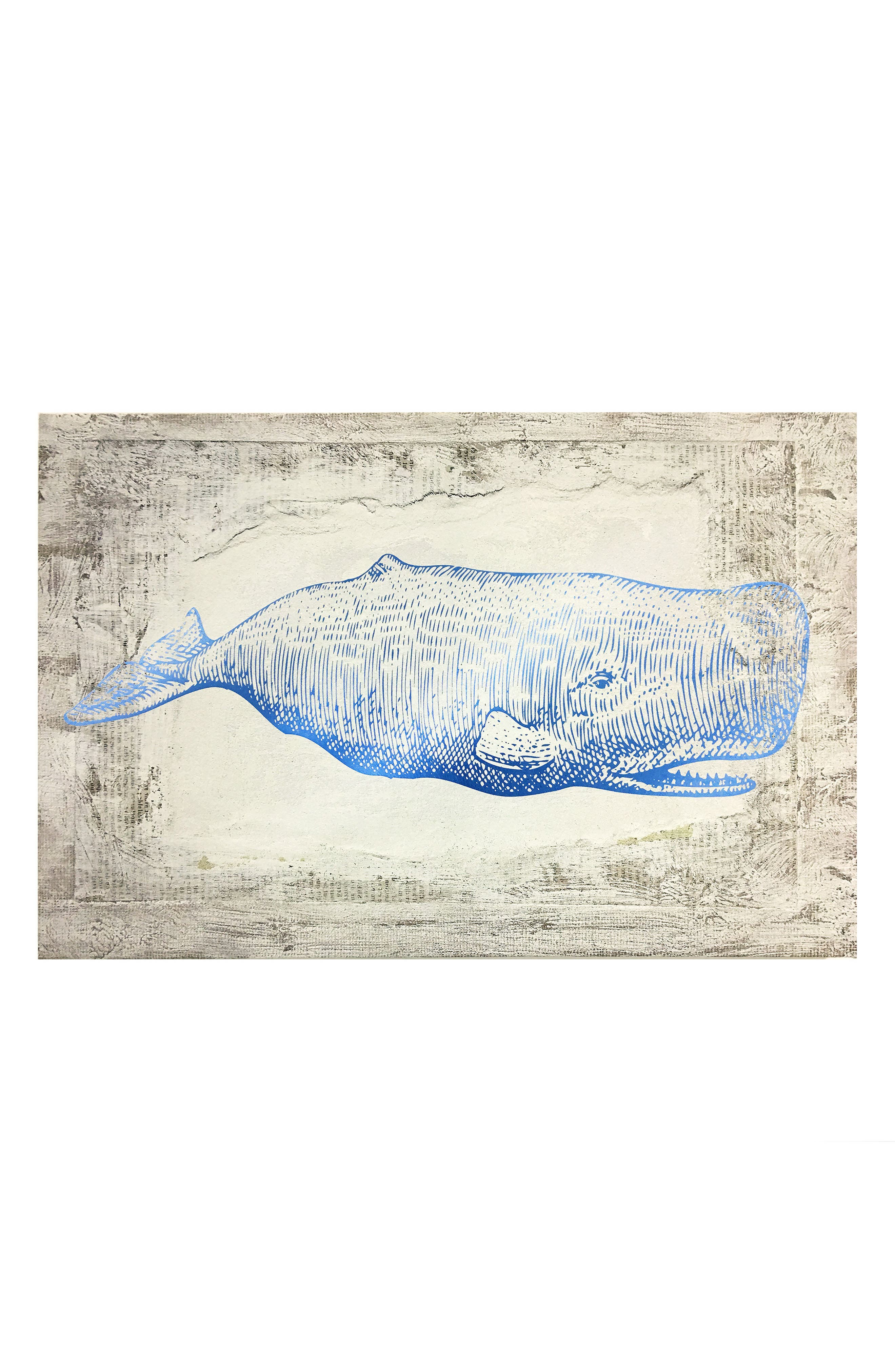 Wynwood Blue Whale Canvas Wall Art,                         Main,                         color, Beige