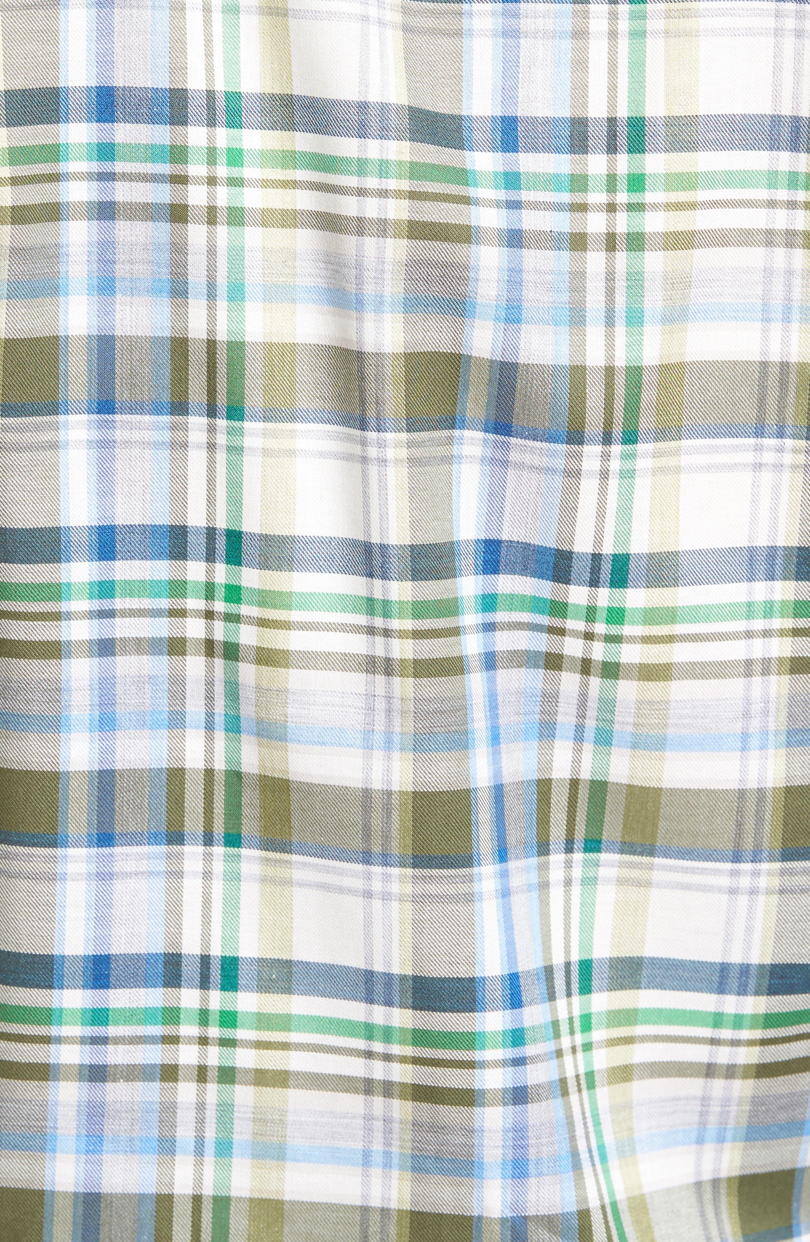 Alternate Image 5  - Robert Talbott Anderson Classic Fit Plaid Micro Twill Sport Shirt
