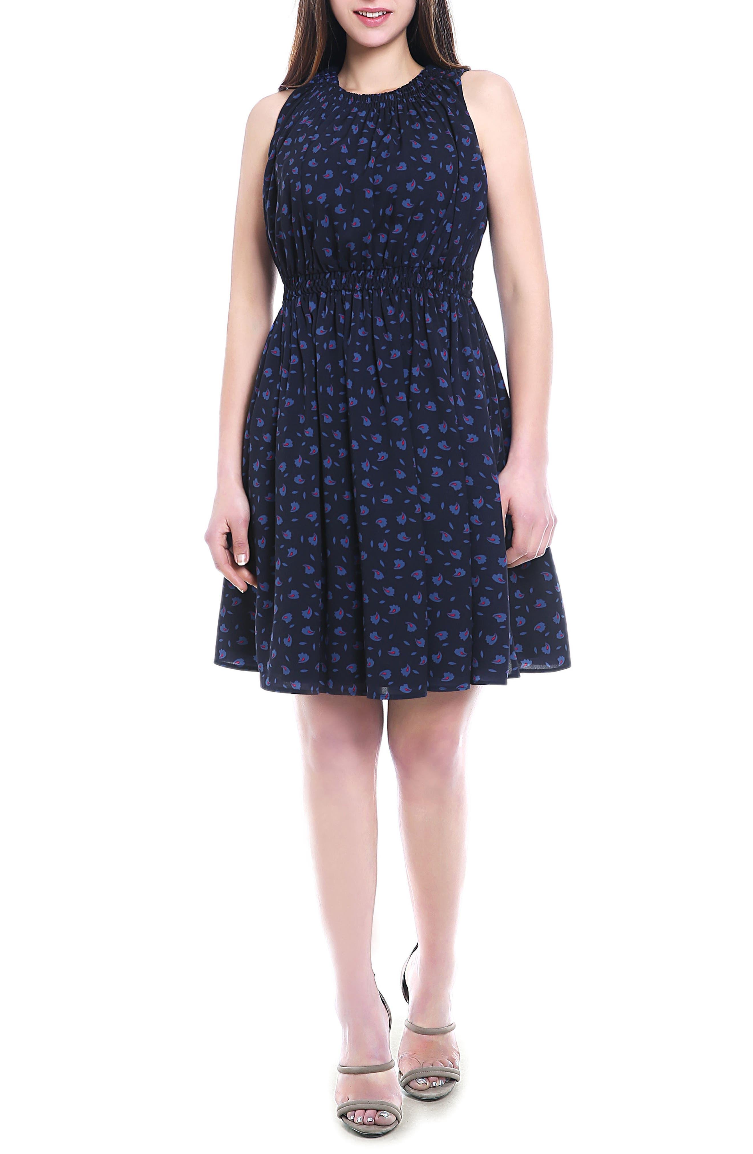 Anjea Maternity/Nursing Dress,                         Main,                         color, Navy