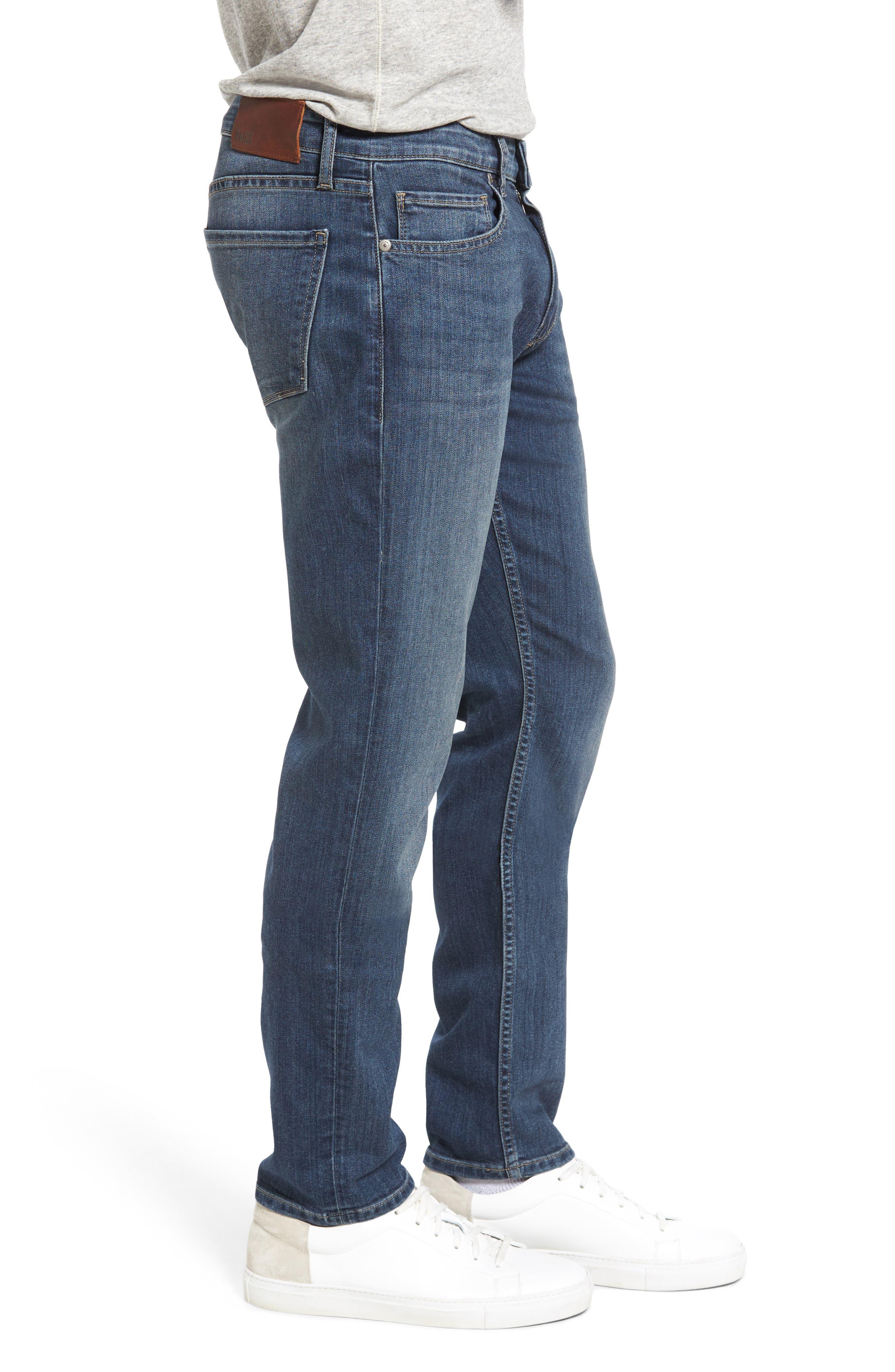 Transcend - Lennox Slim Fit Jeans,                             Alternate thumbnail 3, color,                             Elwood