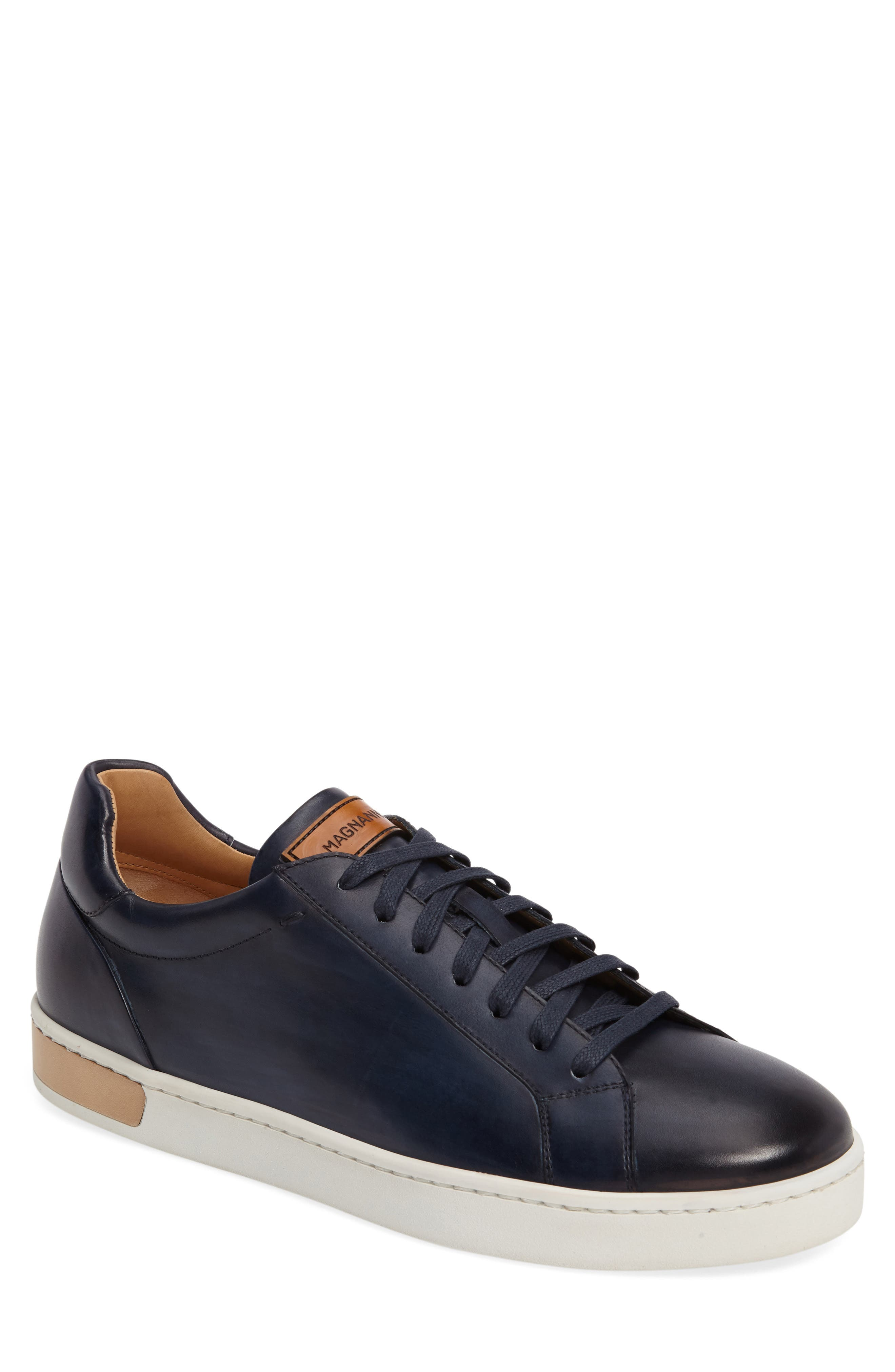 Caballero Sneaker,                         Main,                         color, Blue Leather