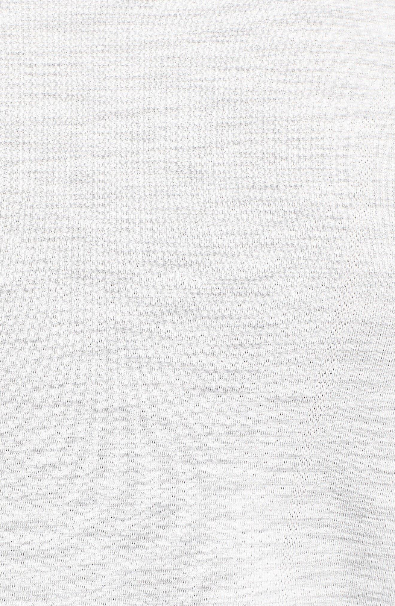 Threadborne Regular Fit T-Shirt,                             Alternate thumbnail 5, color,                             White