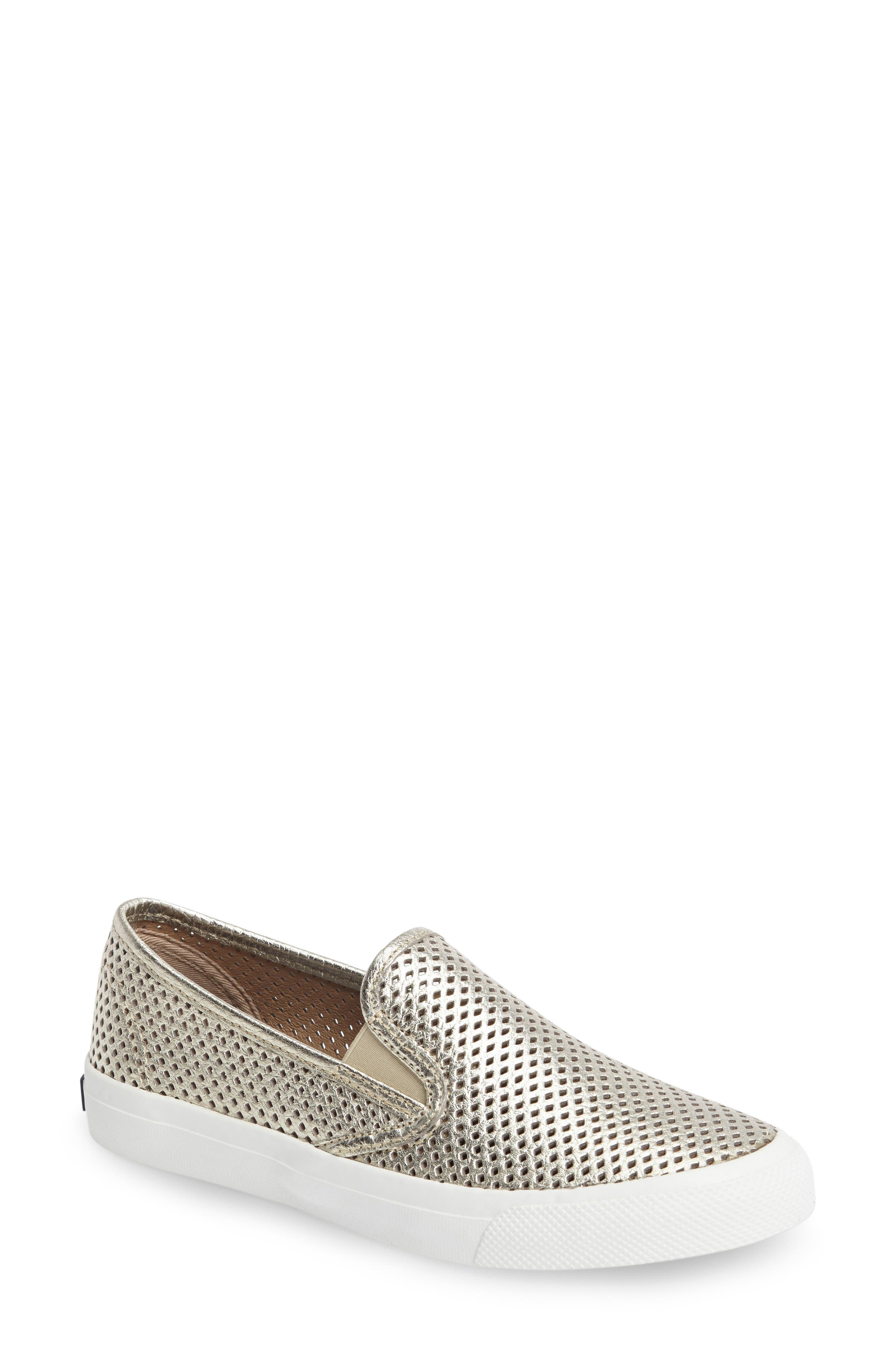 Sperry 'Seaside' Perforated Slip-On Sneaker (Women)