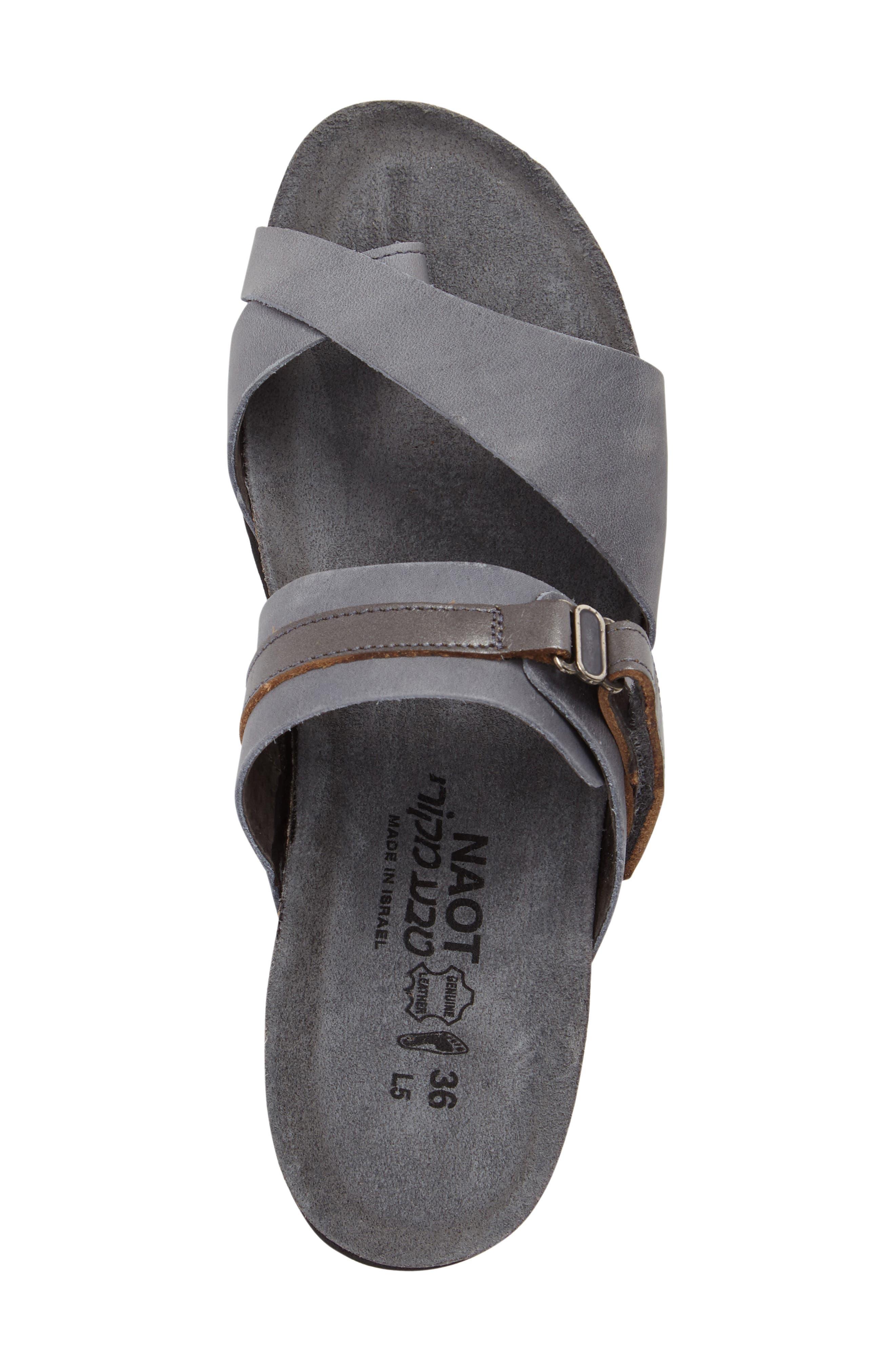 Jessica Sandal,                             Alternate thumbnail 5, color,                             Vintage Slate Leather