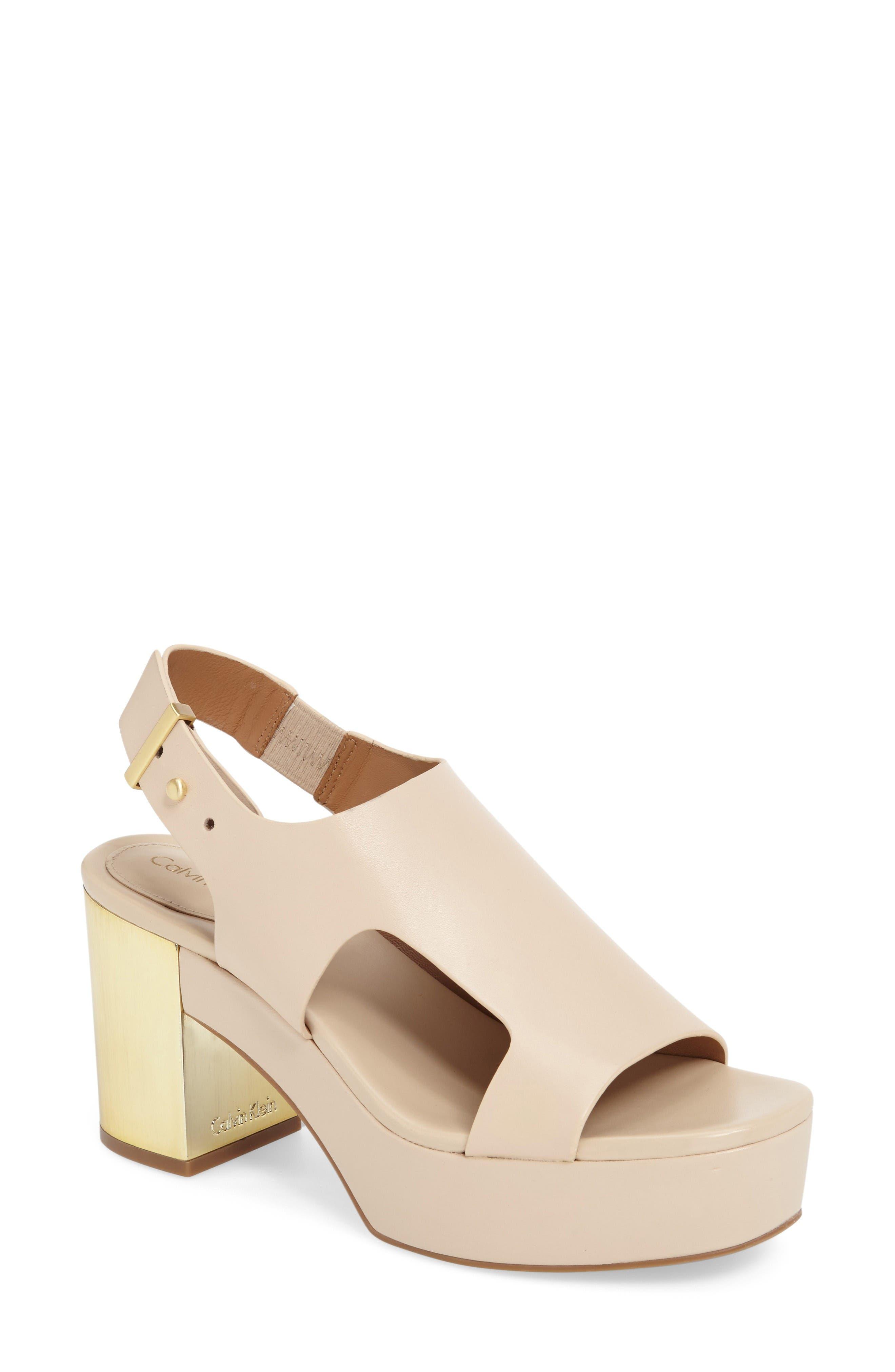 CALVIN KLEIN Iven Platform Sandal