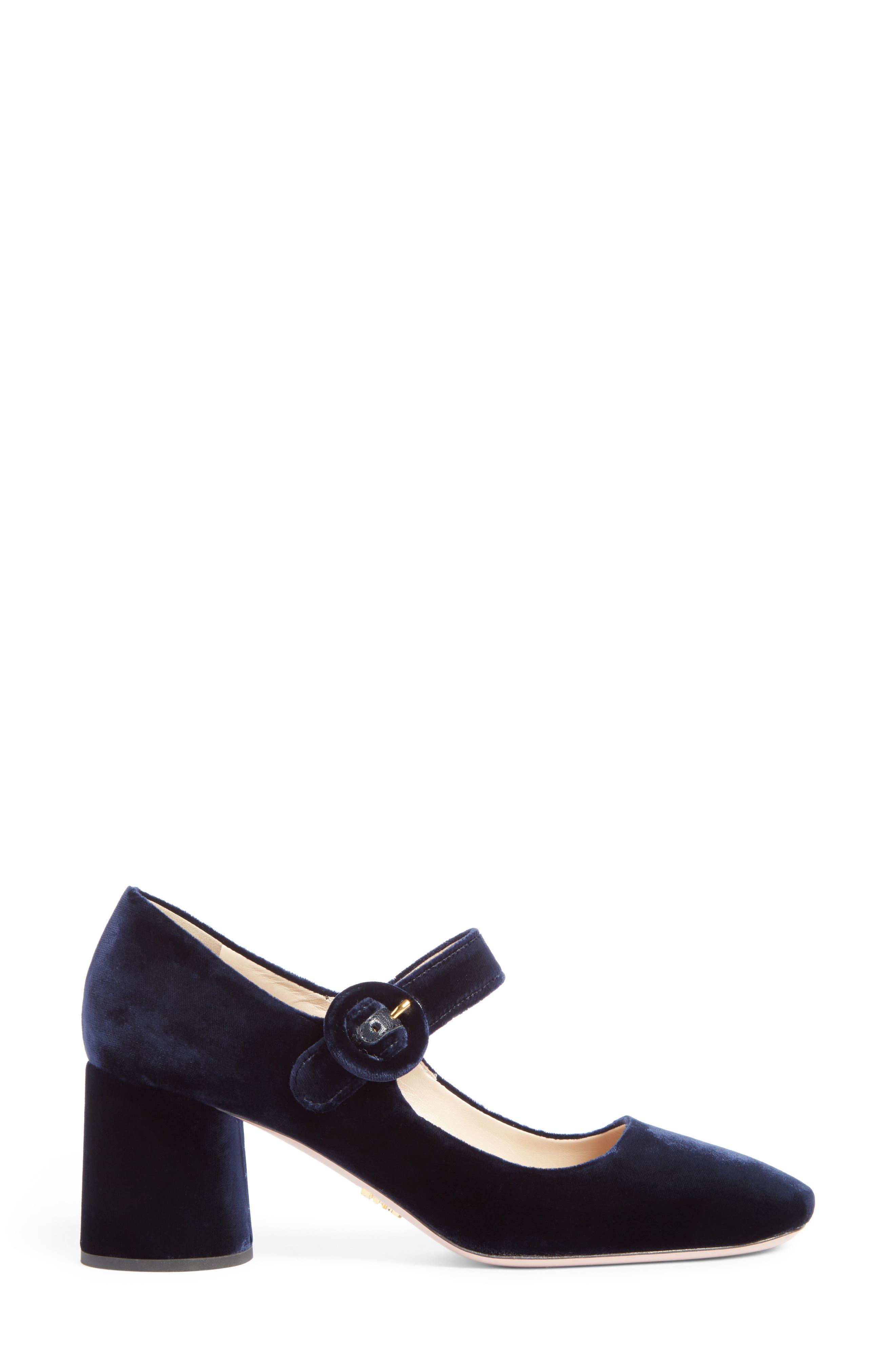 Alternate Image 4  - Prada Block Heel Mary Jane Pump (Women)