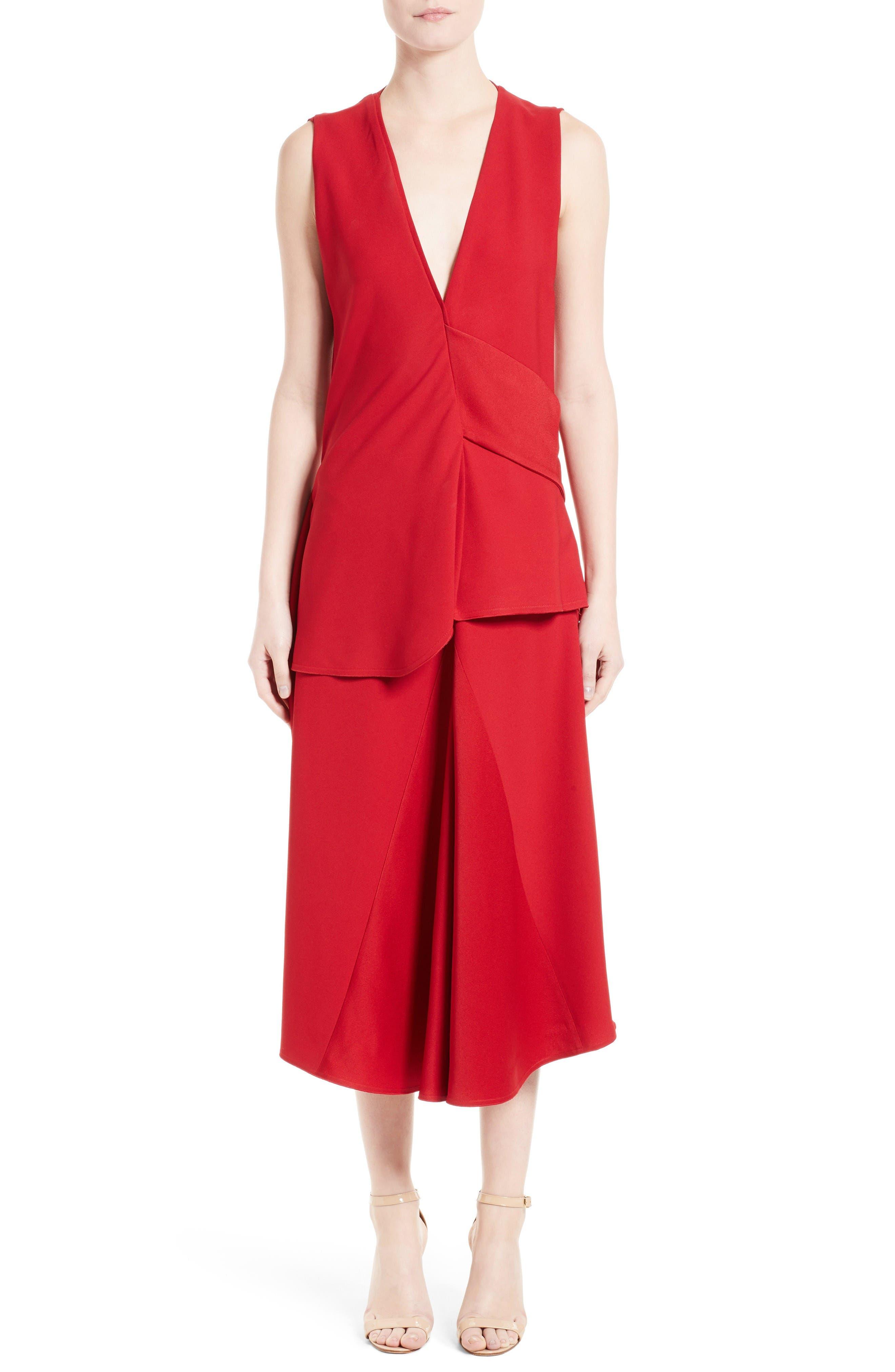Alternate Image 6  - Victoria Beckham Satin Crepe Godet Skirt