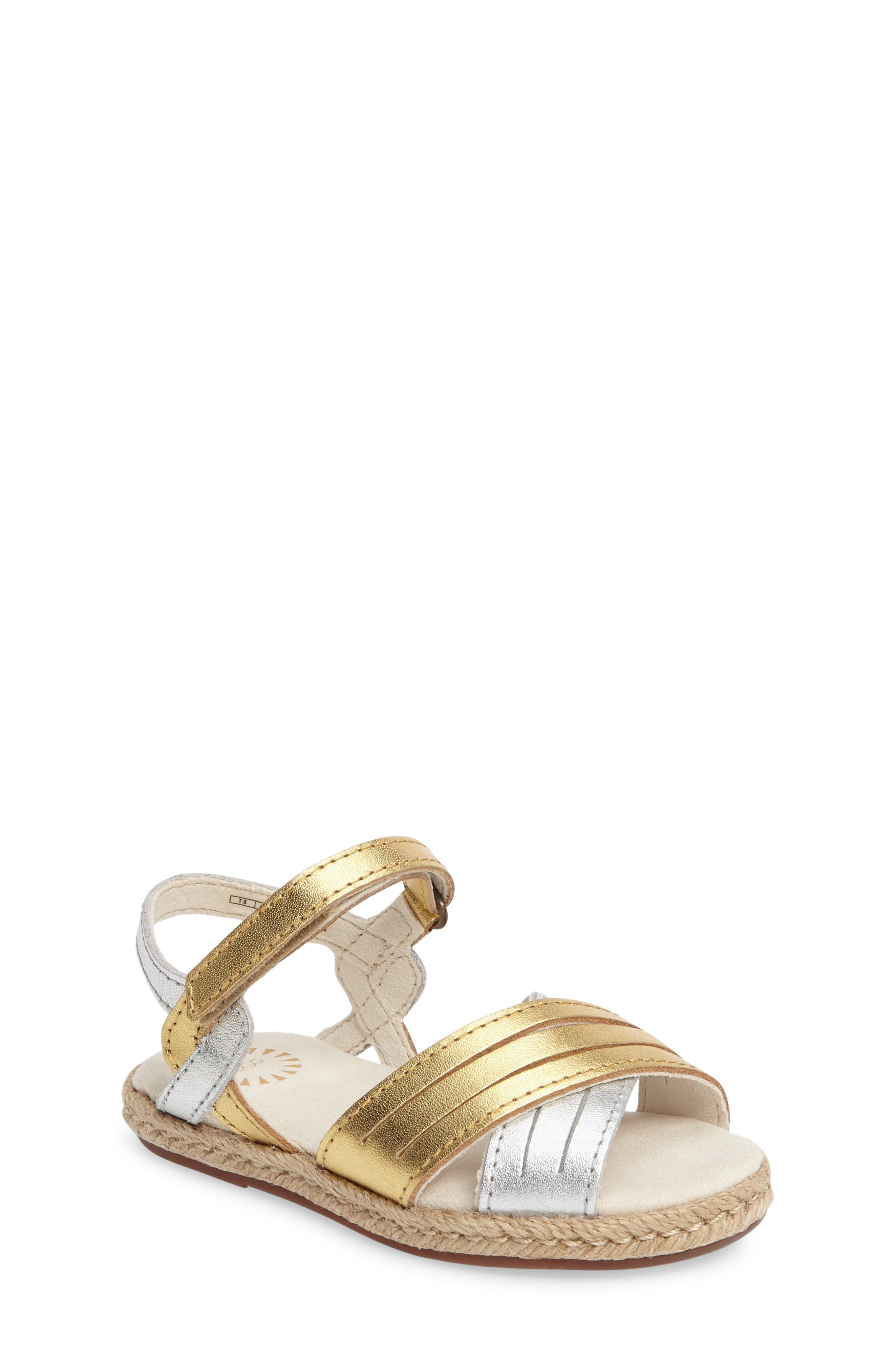Addilyn Sandal,                         Main,                         color, Metallic