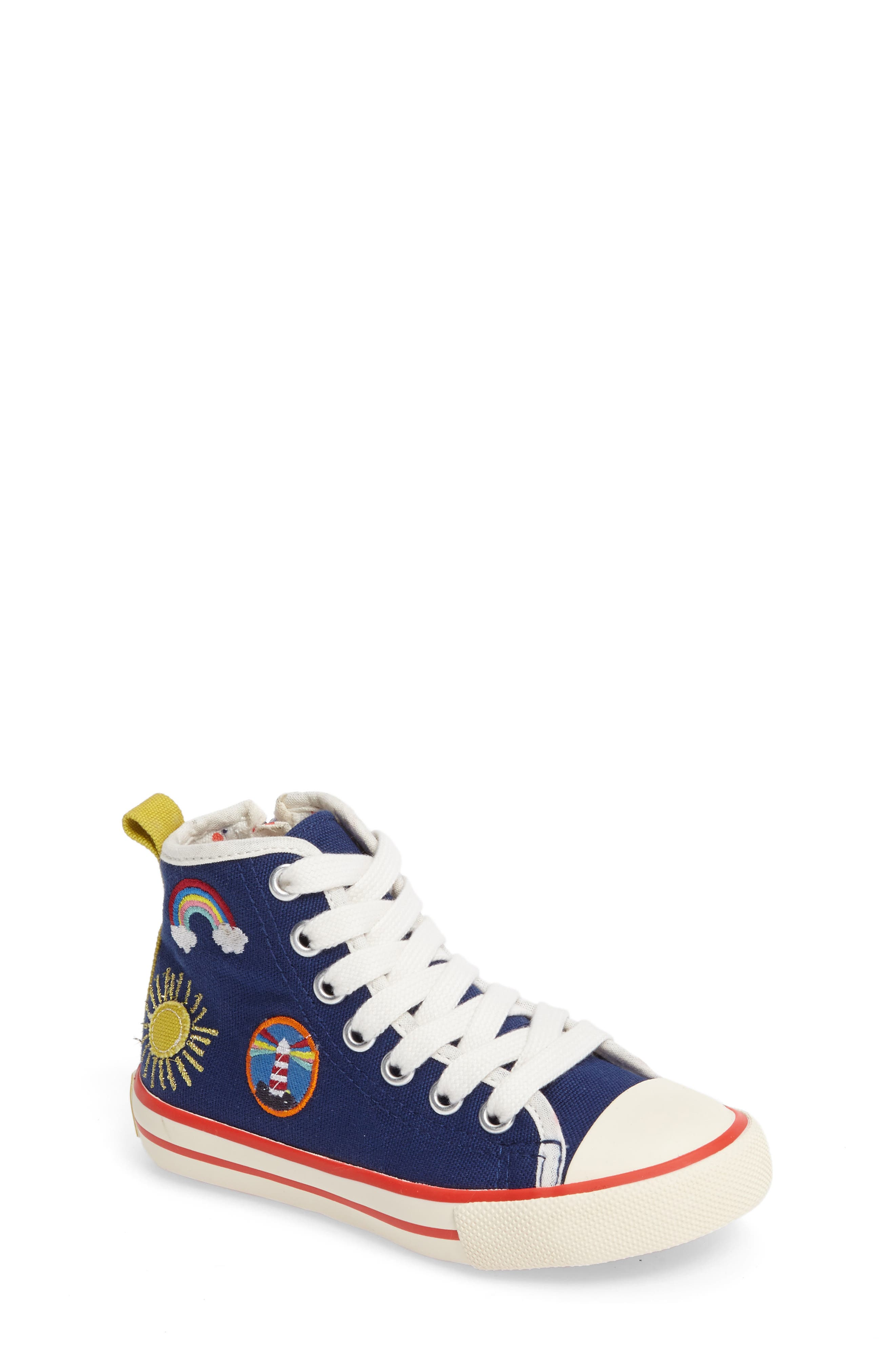 Mini Boden Appliqué High Top Sneaker (Toddler, Little Kid & Big Kid)