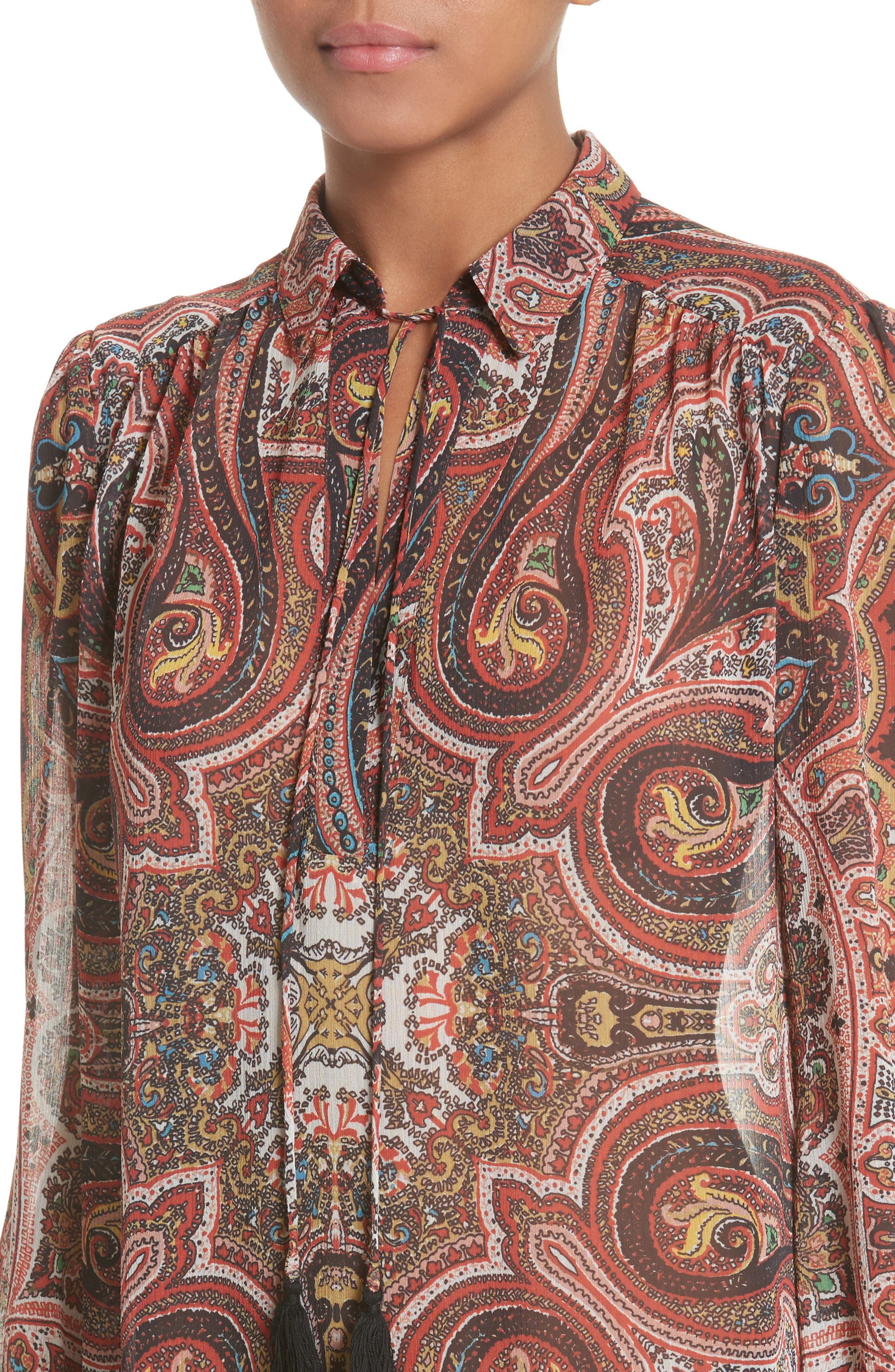 Sterling Tunic,                             Alternate thumbnail 4, color,                             Paisley Scarf